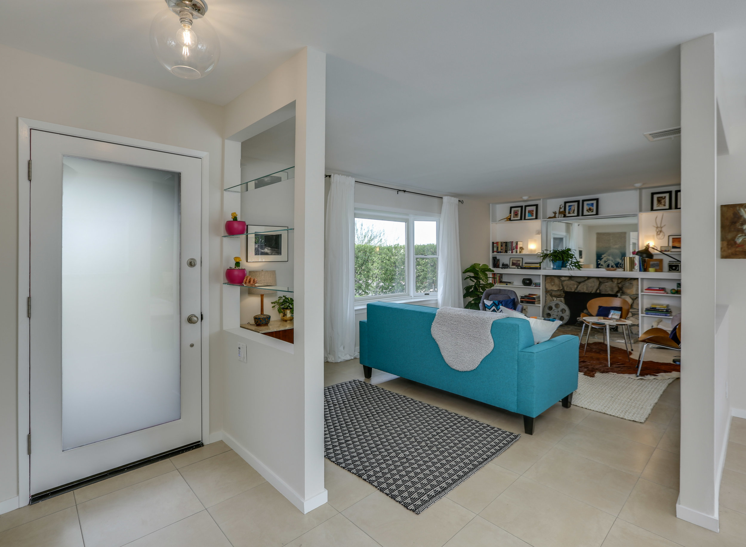 """Freshly painted and """"updated"""" with new lighting, """"cottage cheese"""" removed, and professionally staged. Sold within three days on market for attractive price. Staging by Habitat Staging, SarahAlice Doss."""
