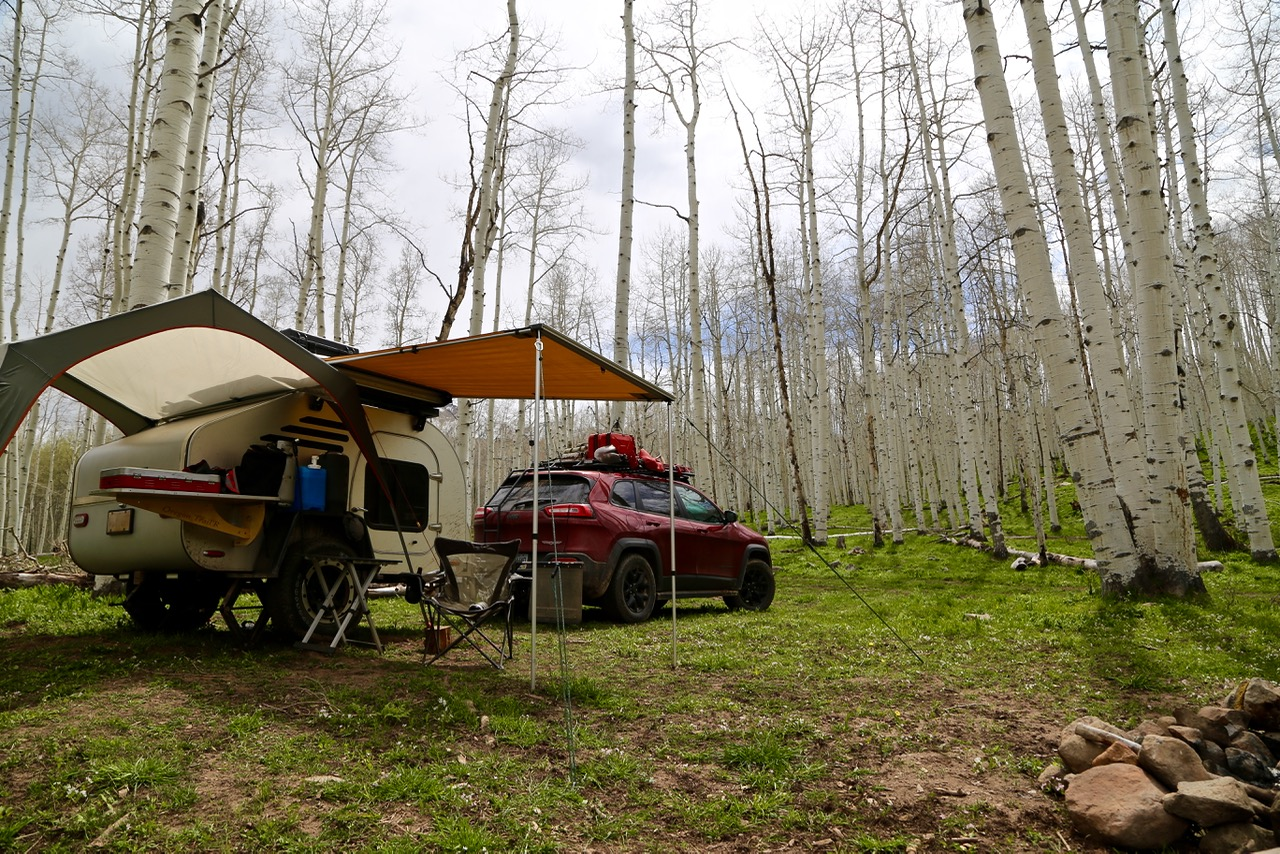 Camp at Kebler Pass