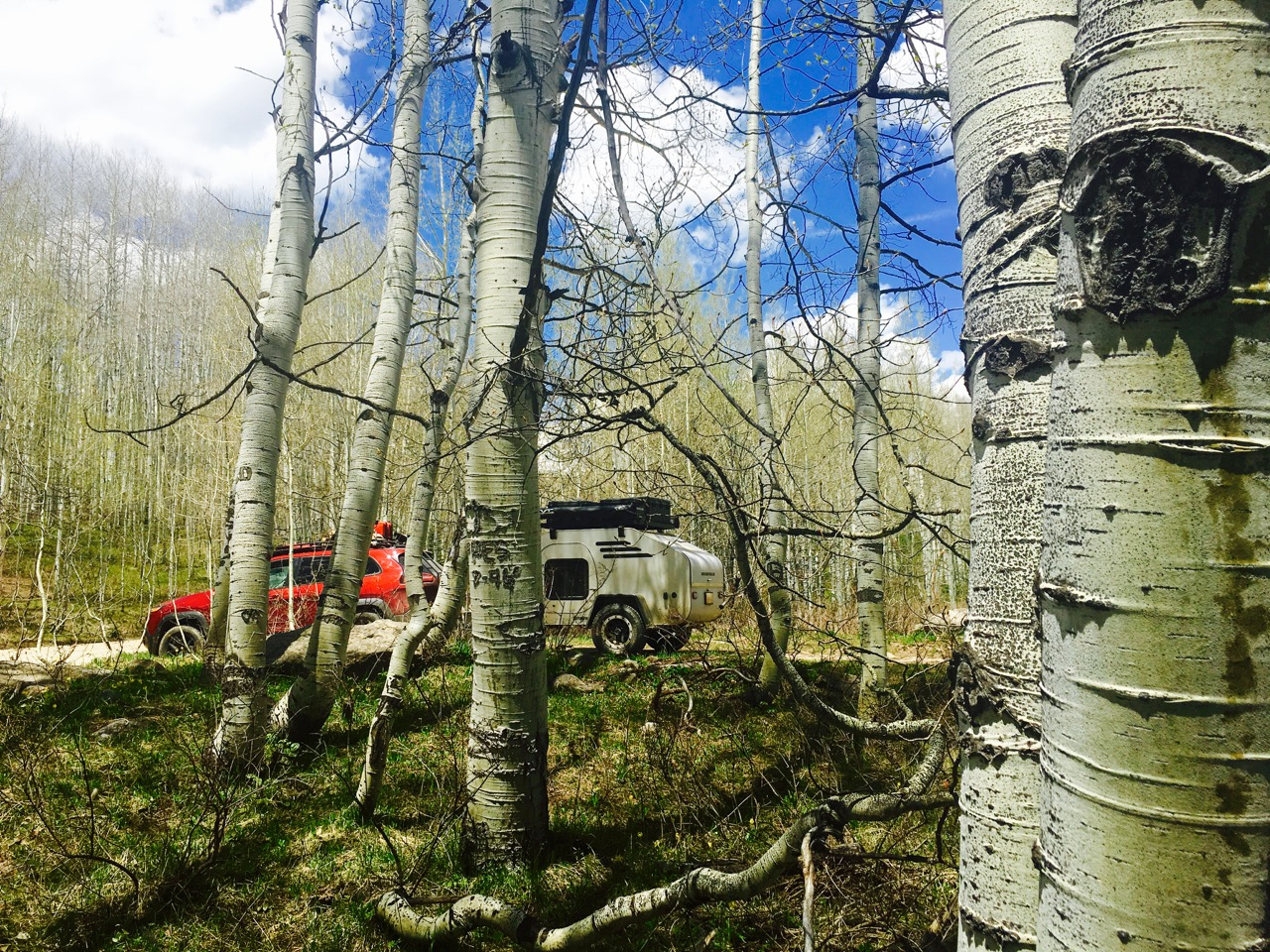 Camp near Keebler Pass, CO