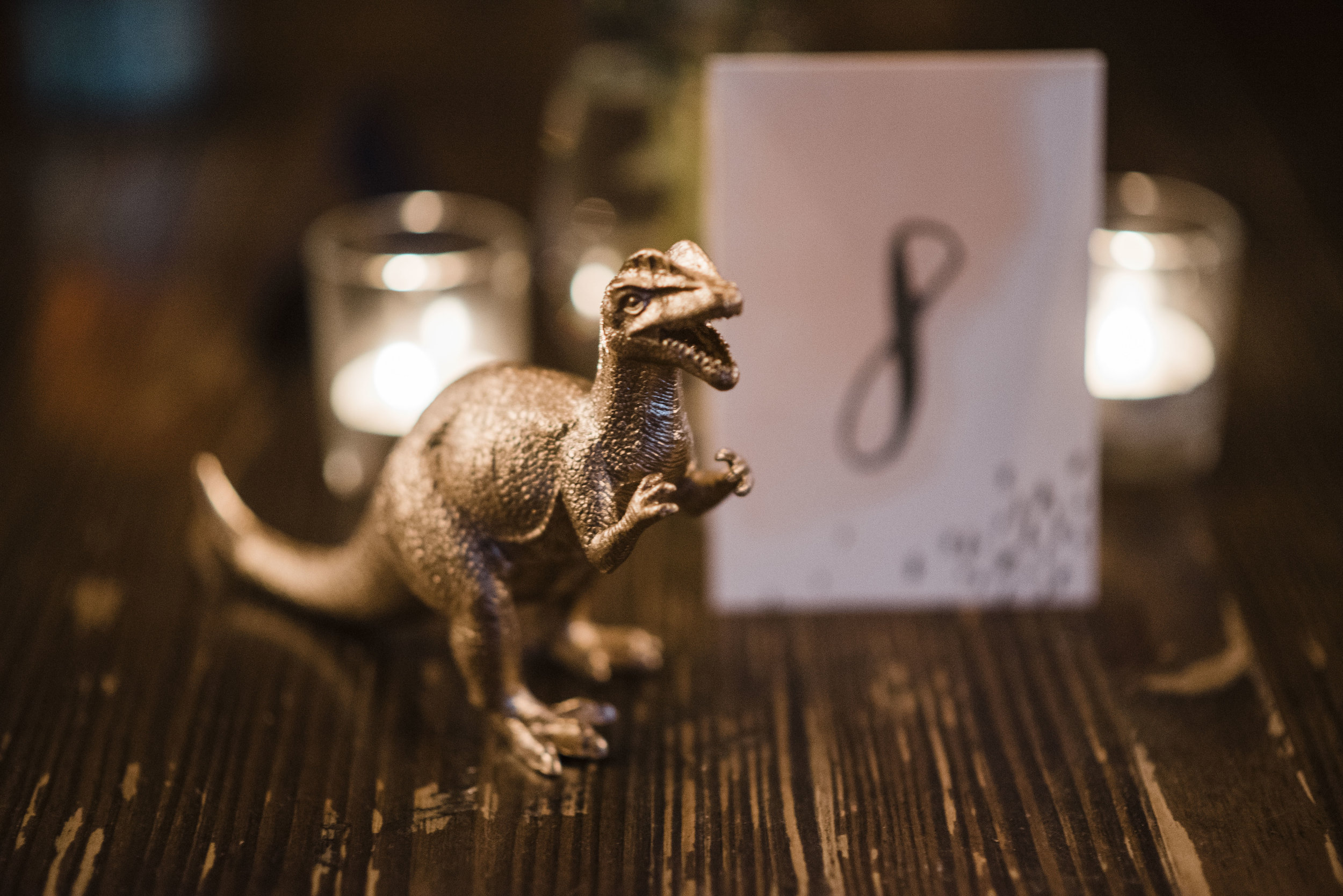 wedding the foundry Athens Georgia dinosaur table