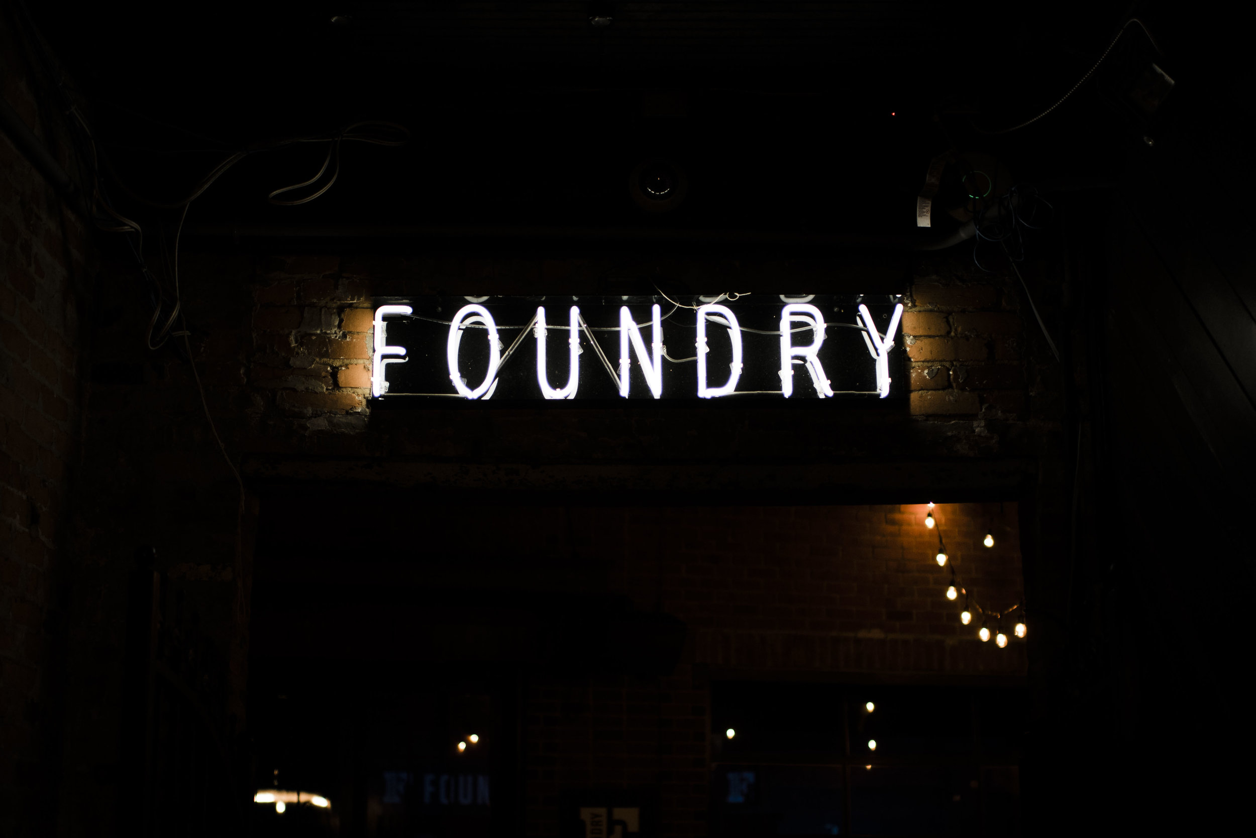 neon wedding the foundry Athens georgia