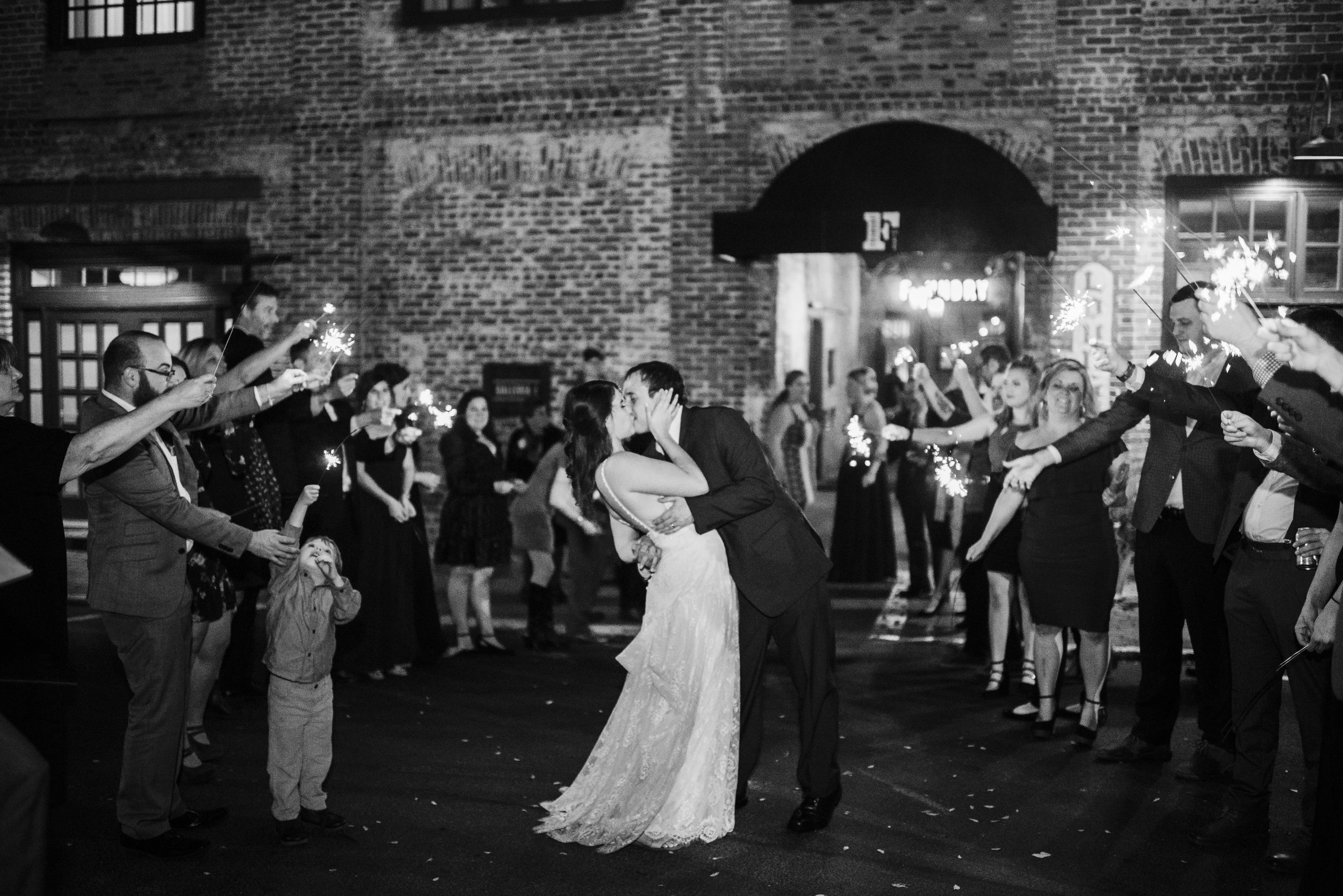 sparkler exit wedding the foundry Athens georgia