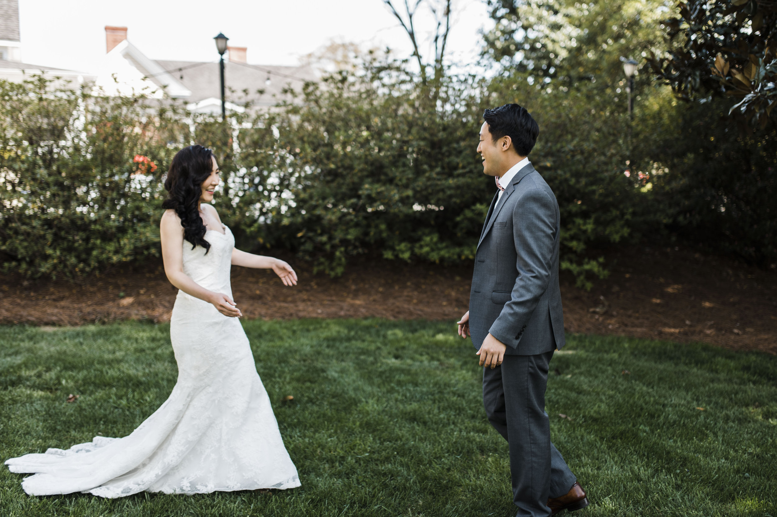 first look Korean wedding