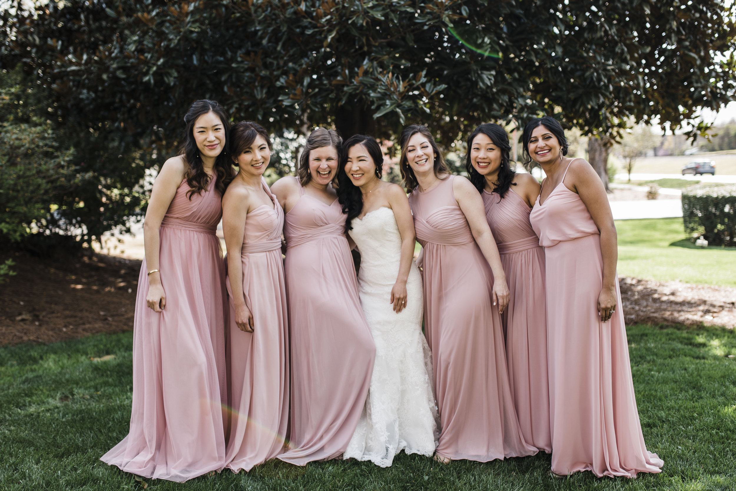 bridesmaids Korean wedding atlanta