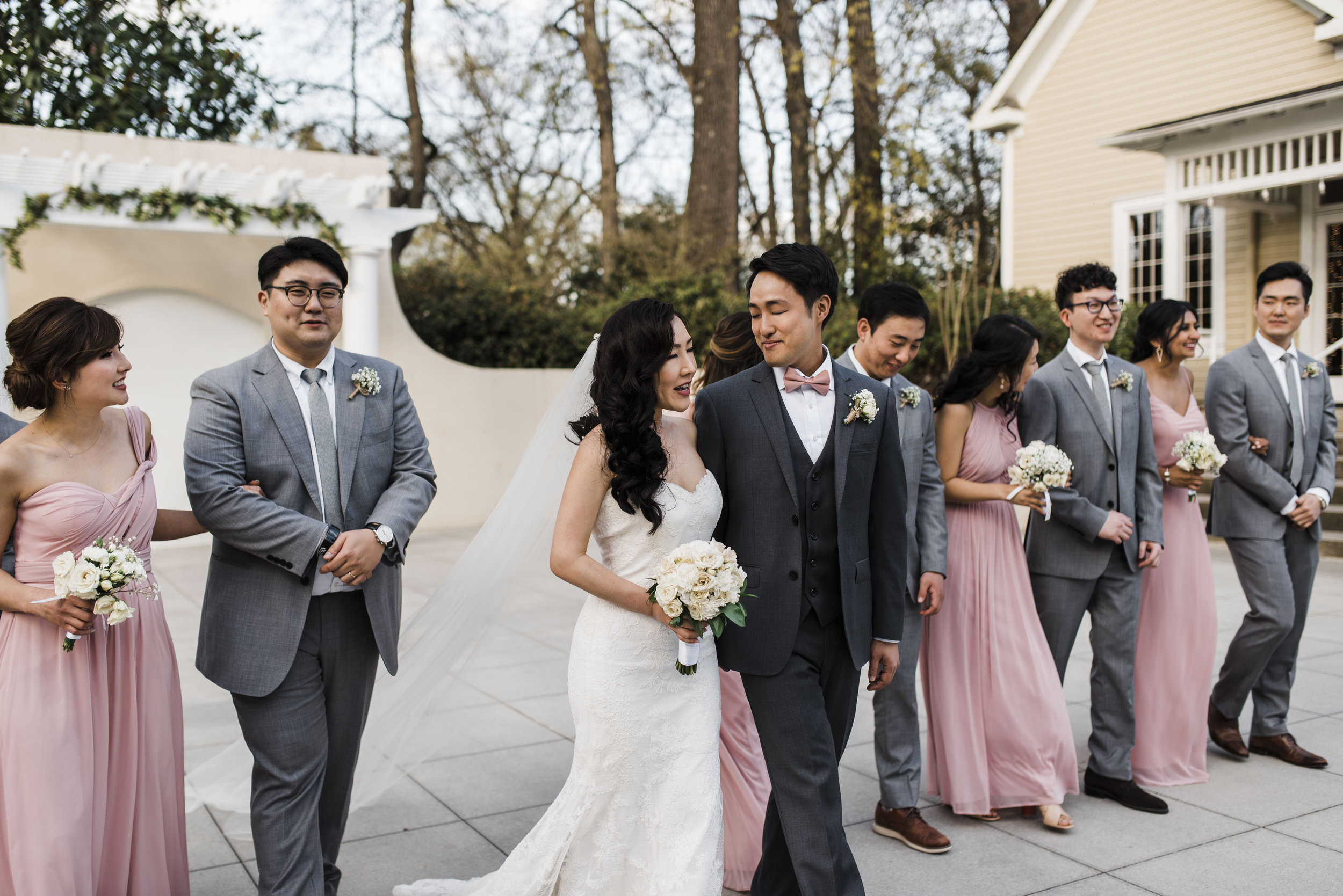 bridal party Korean wedding atlanta
