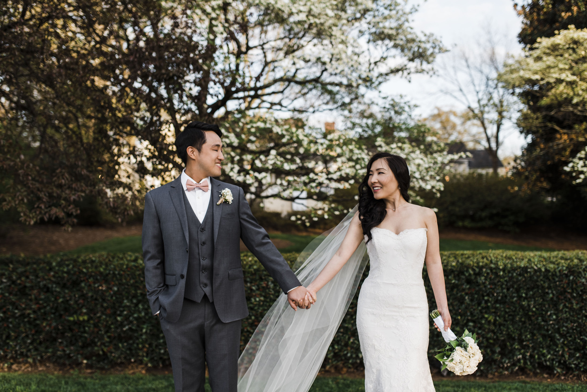 Korean wedding atlanta couple