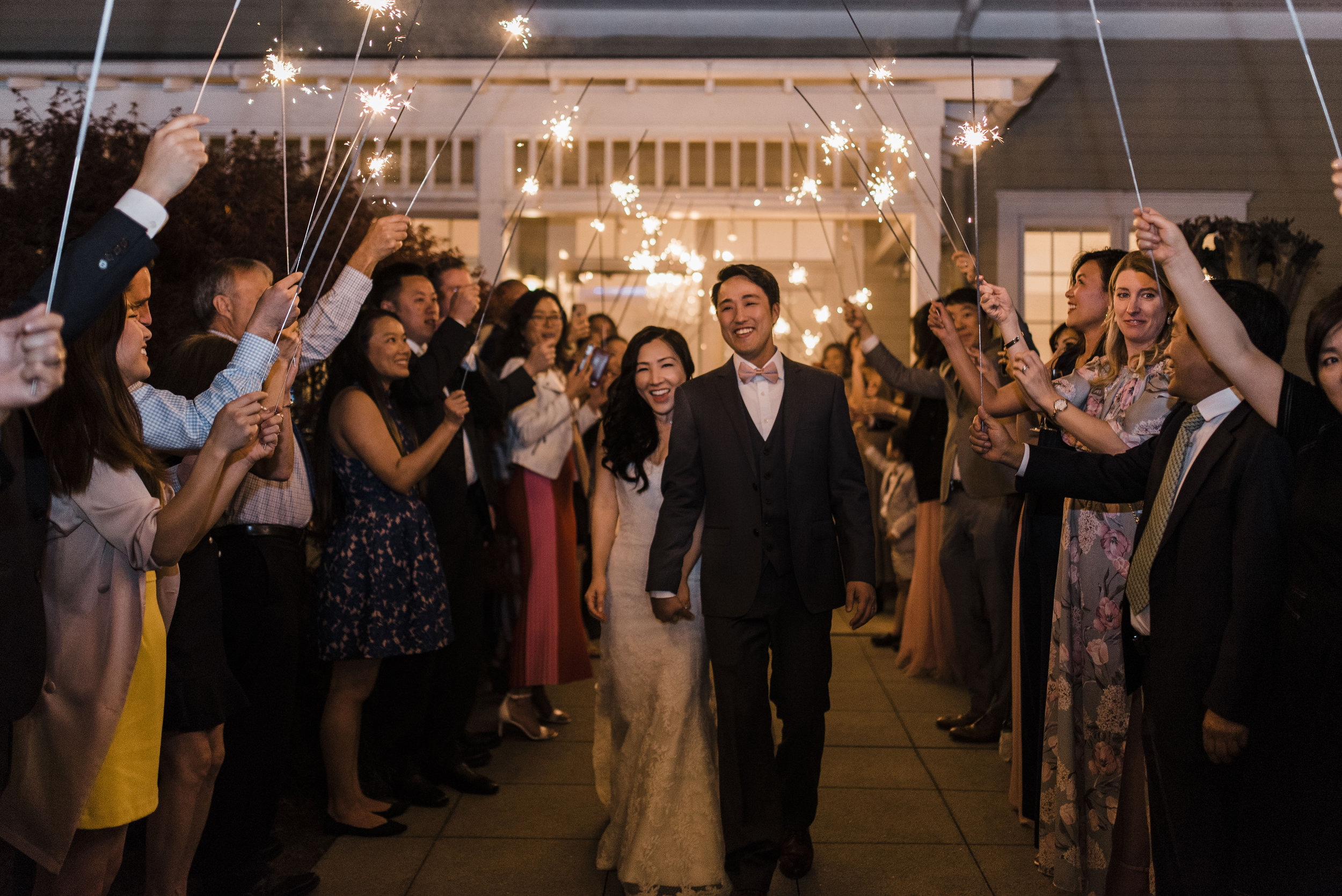 Korean wedding atlanta 173 Carlyle house sparkler exit
