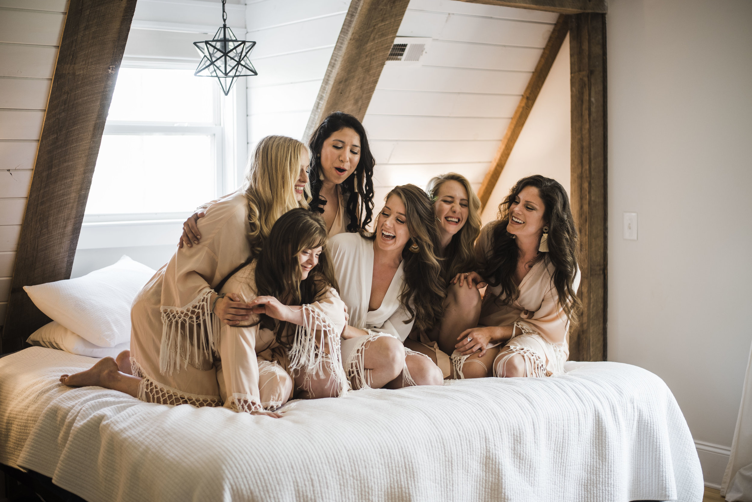 wedding bridal party robes chattanooga Tennessee