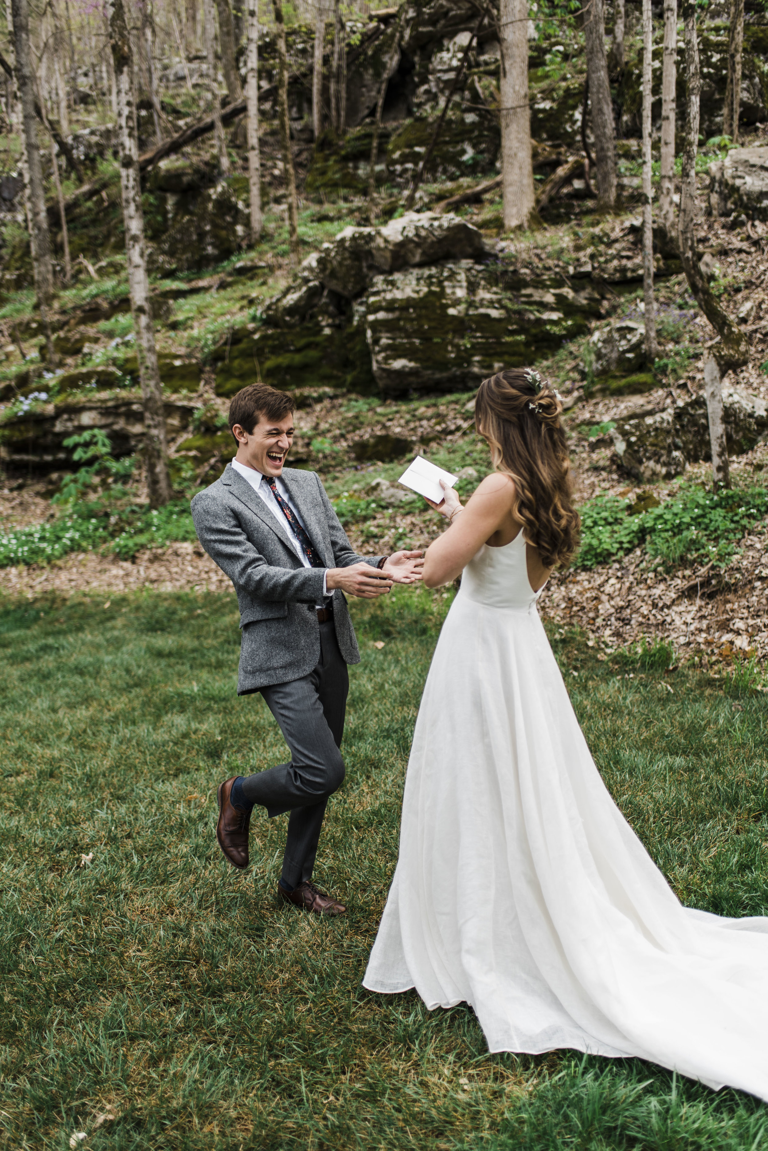 wedding first look chattanooga Tennessee