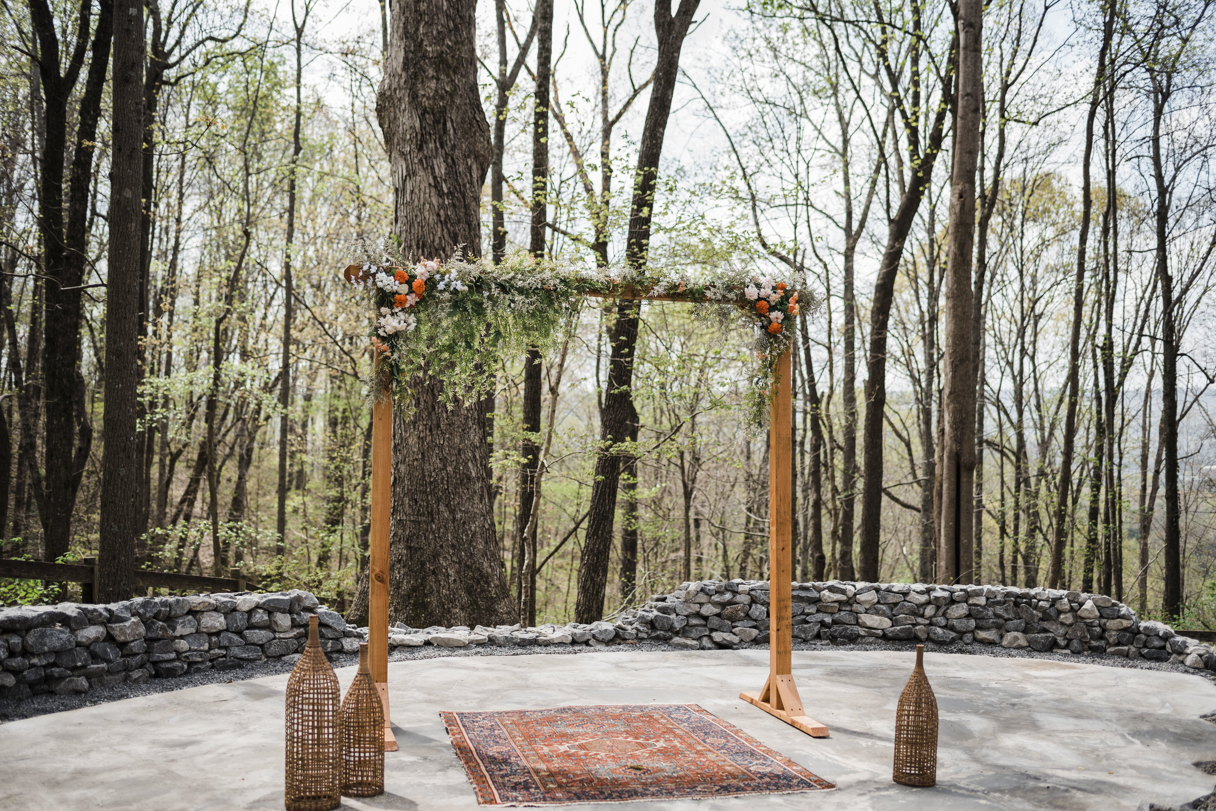 wedding ceremony altar rugs chattanooga Tennessee