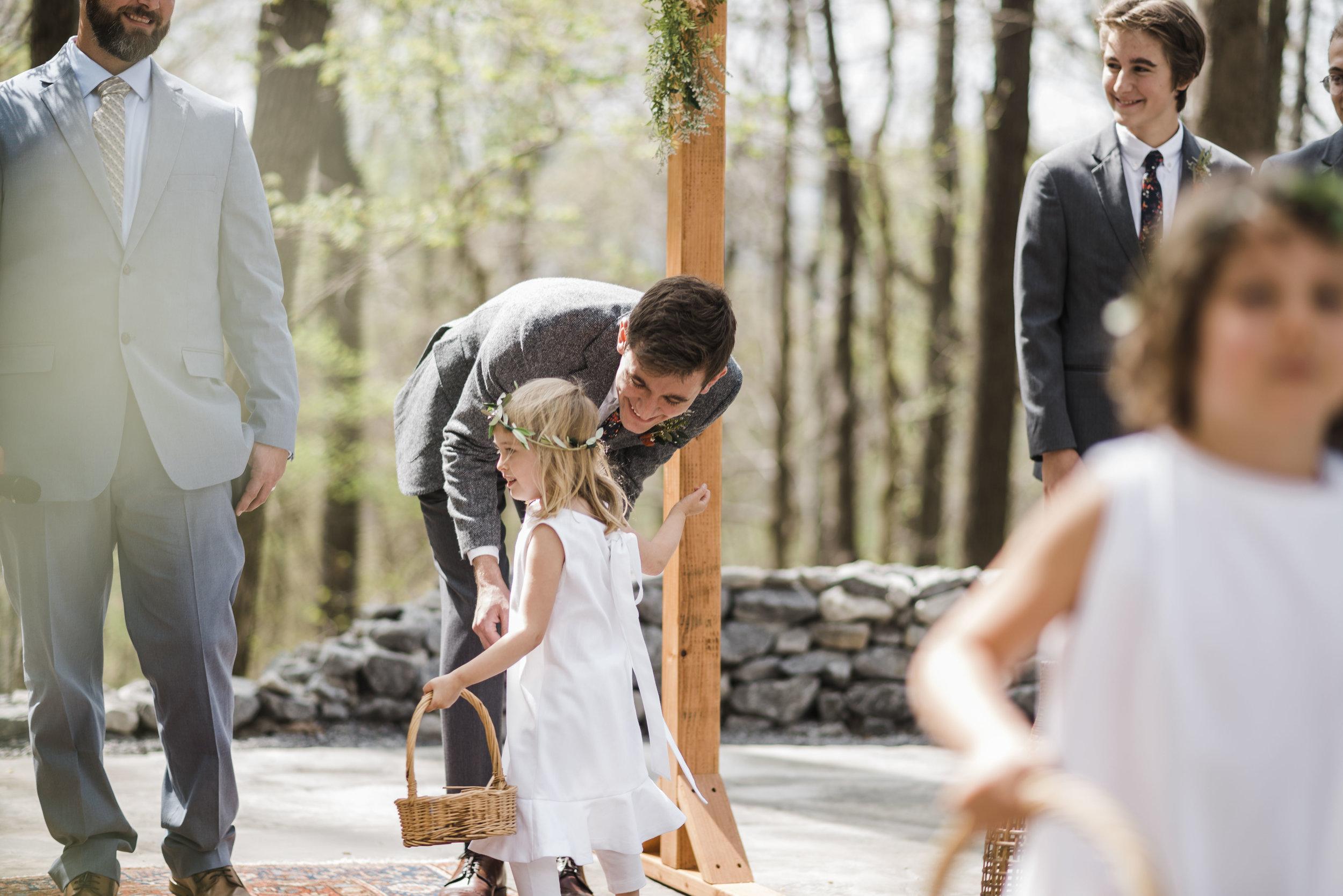 wedding ceremony flower girl chattanooga Tennessee
