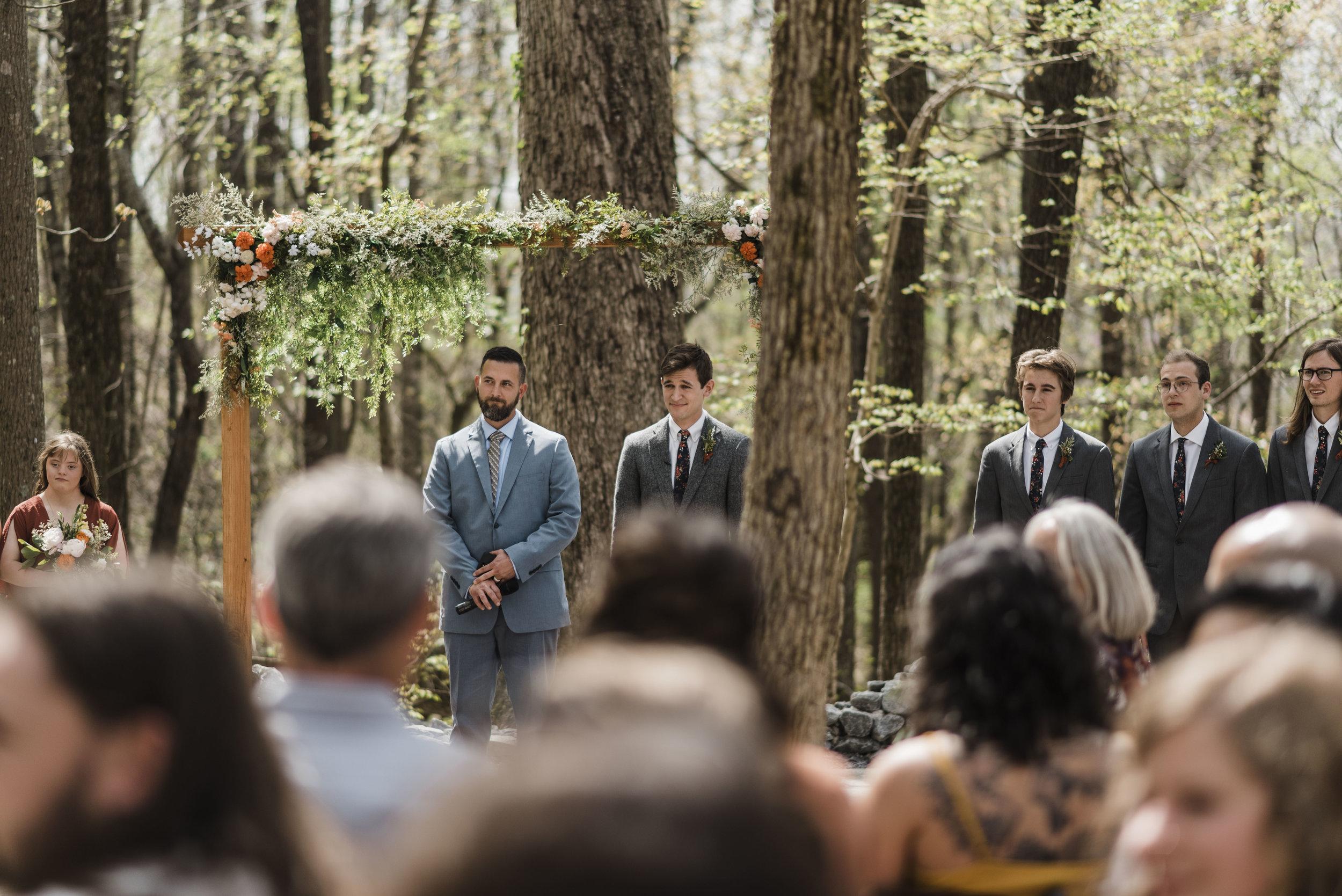 wedding ceremony groom altar chattanooga Tennessee