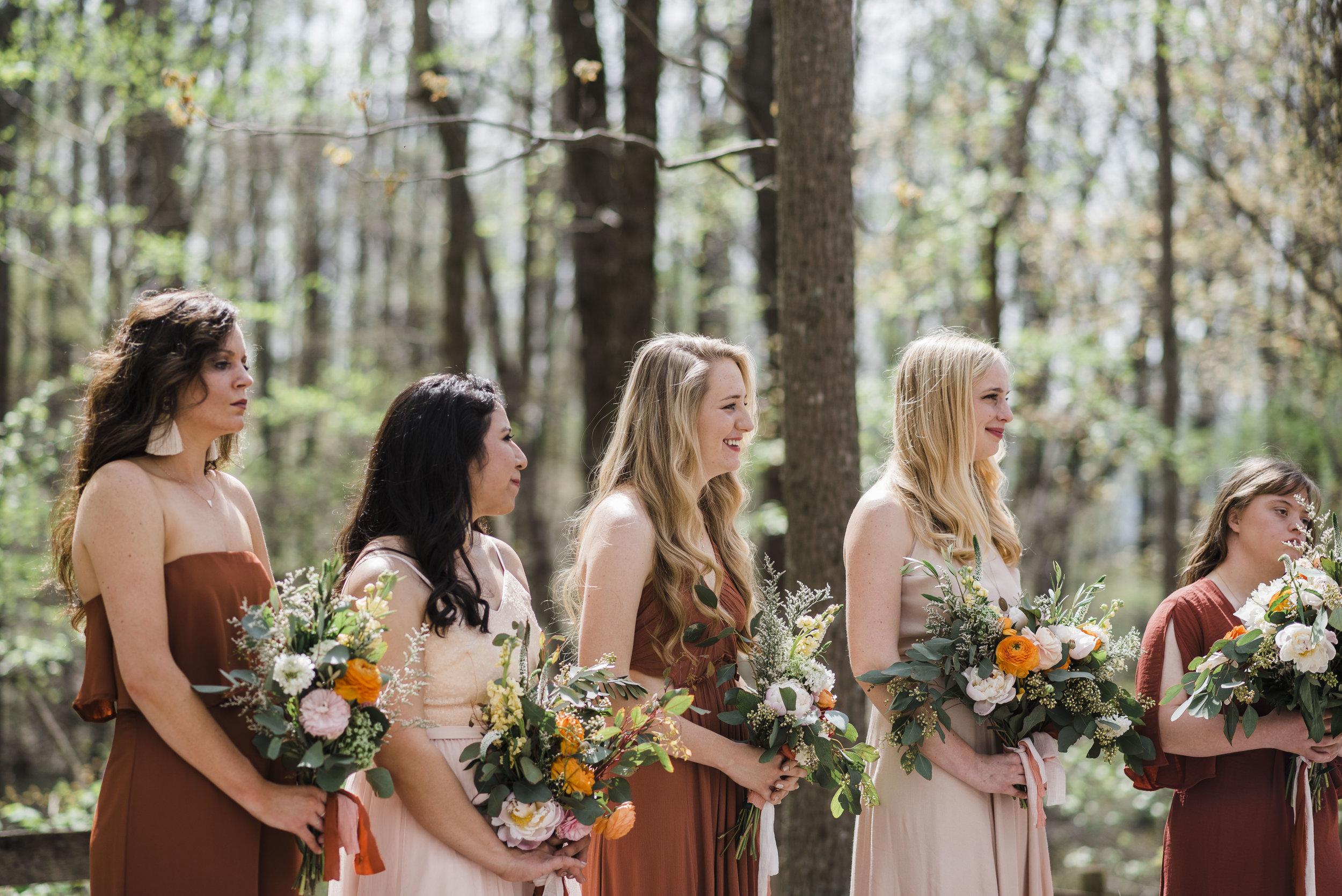wedding ceremony altar bridesmaids chattanooga Tennessee
