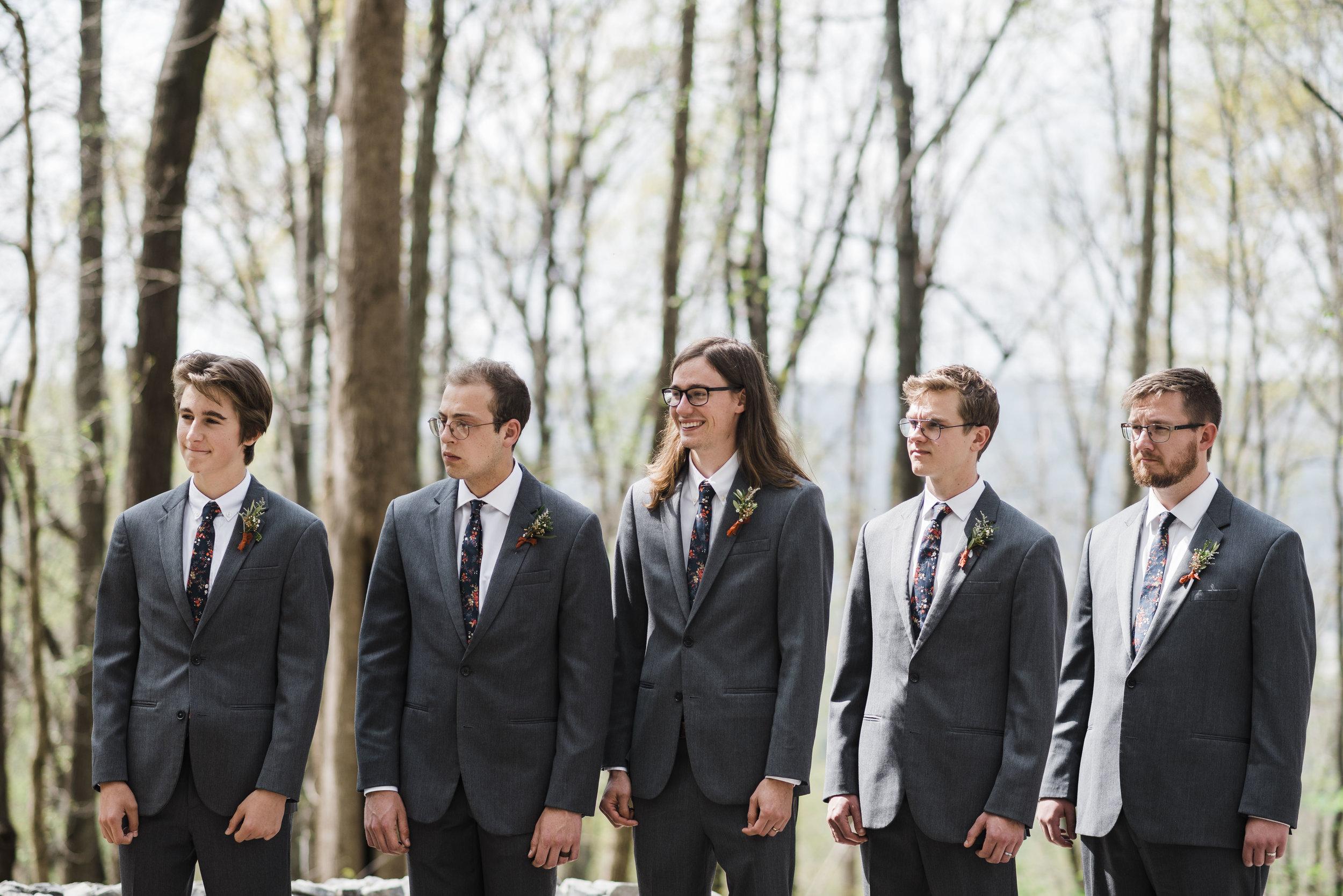 wedding ceremony altar groomsmen chattanooga Tennessee