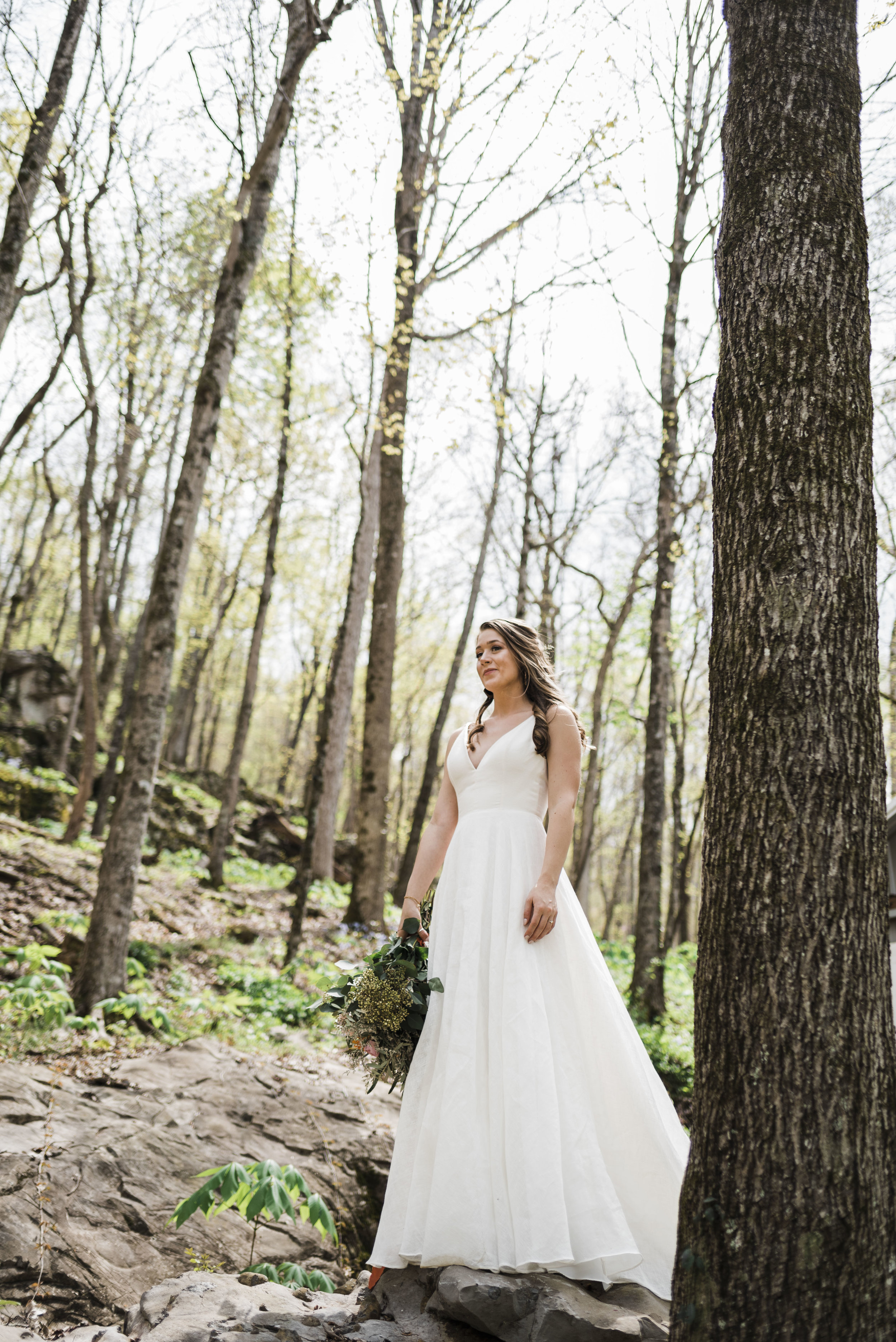 wedding bride chattanooga Tennessee forest