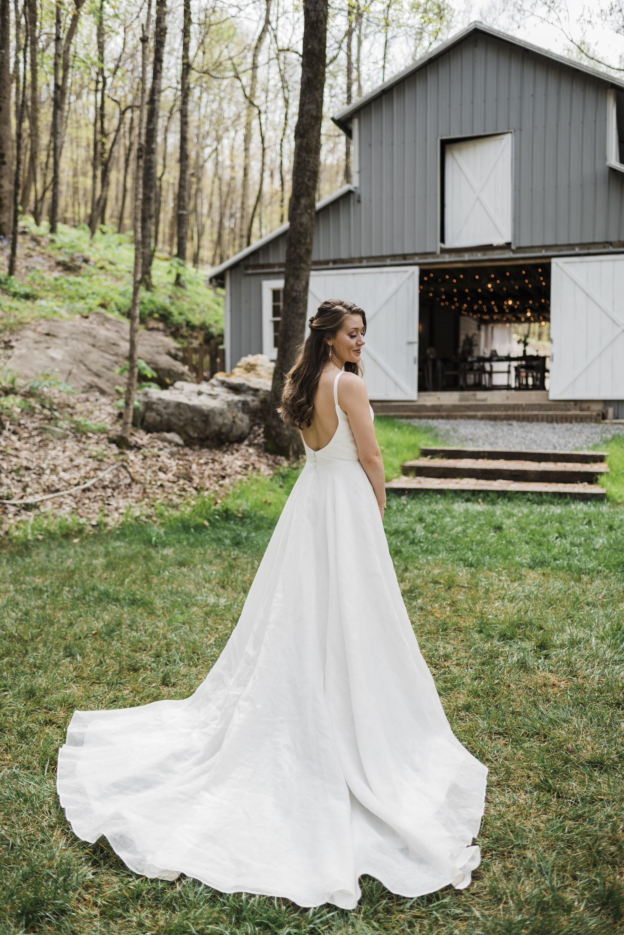 wedding bride Elizabeth dye dress chattanooga Tennessee