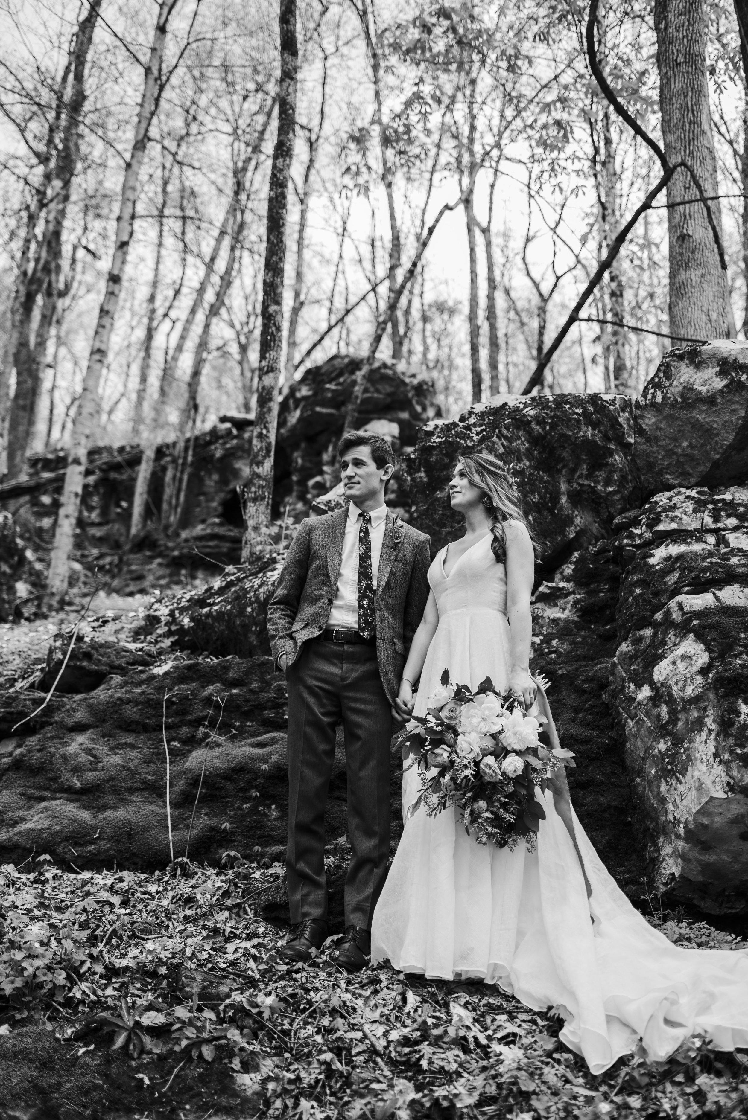 wedding bride groom chattanooga Tennessee forest