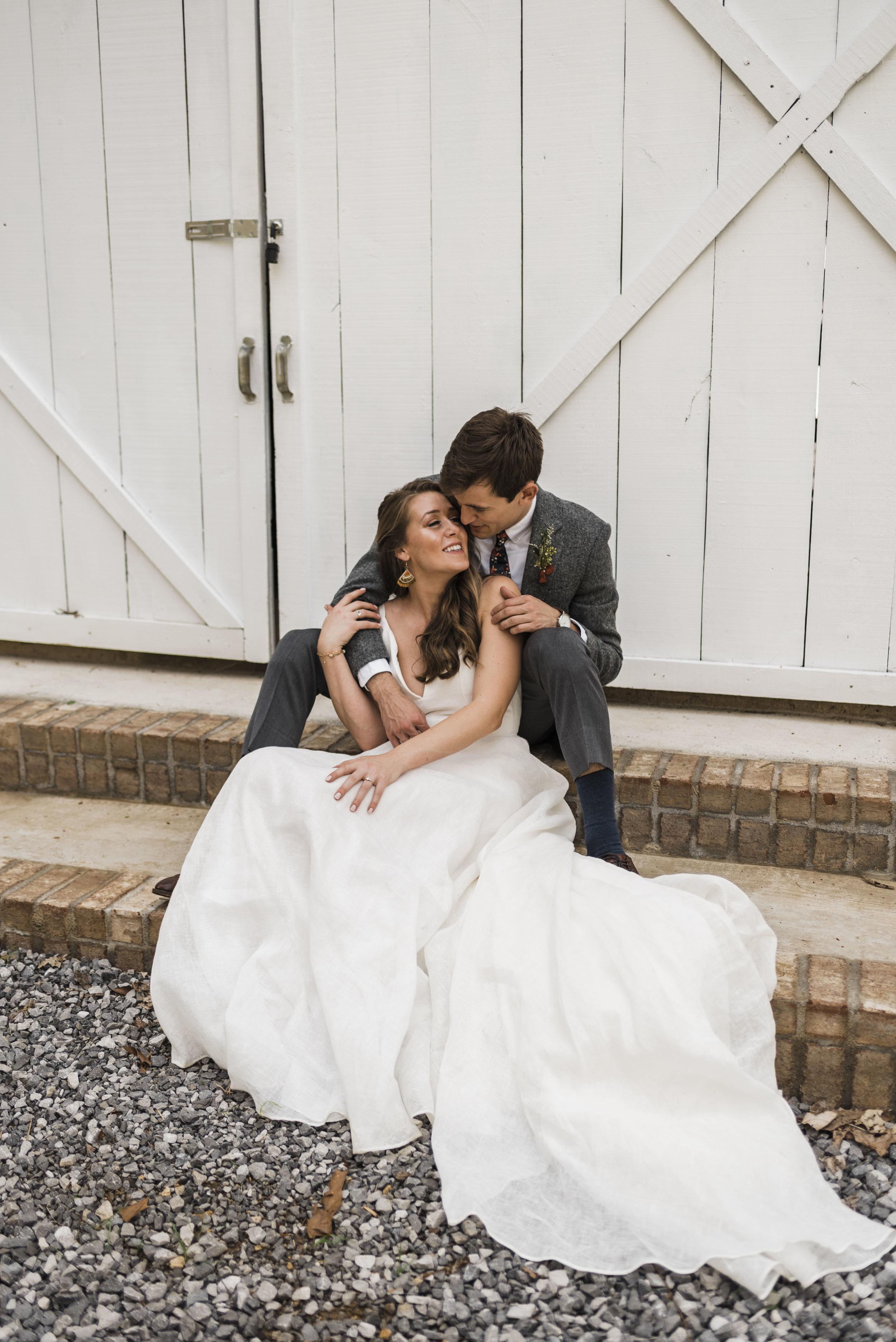 wedding bride groom chattanooga Tennessee barn