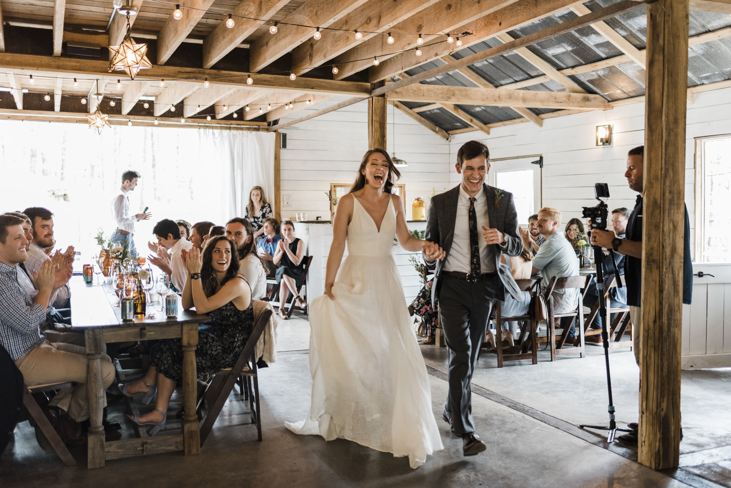 wedding bridal party introduction chattanooga Tennessee barn