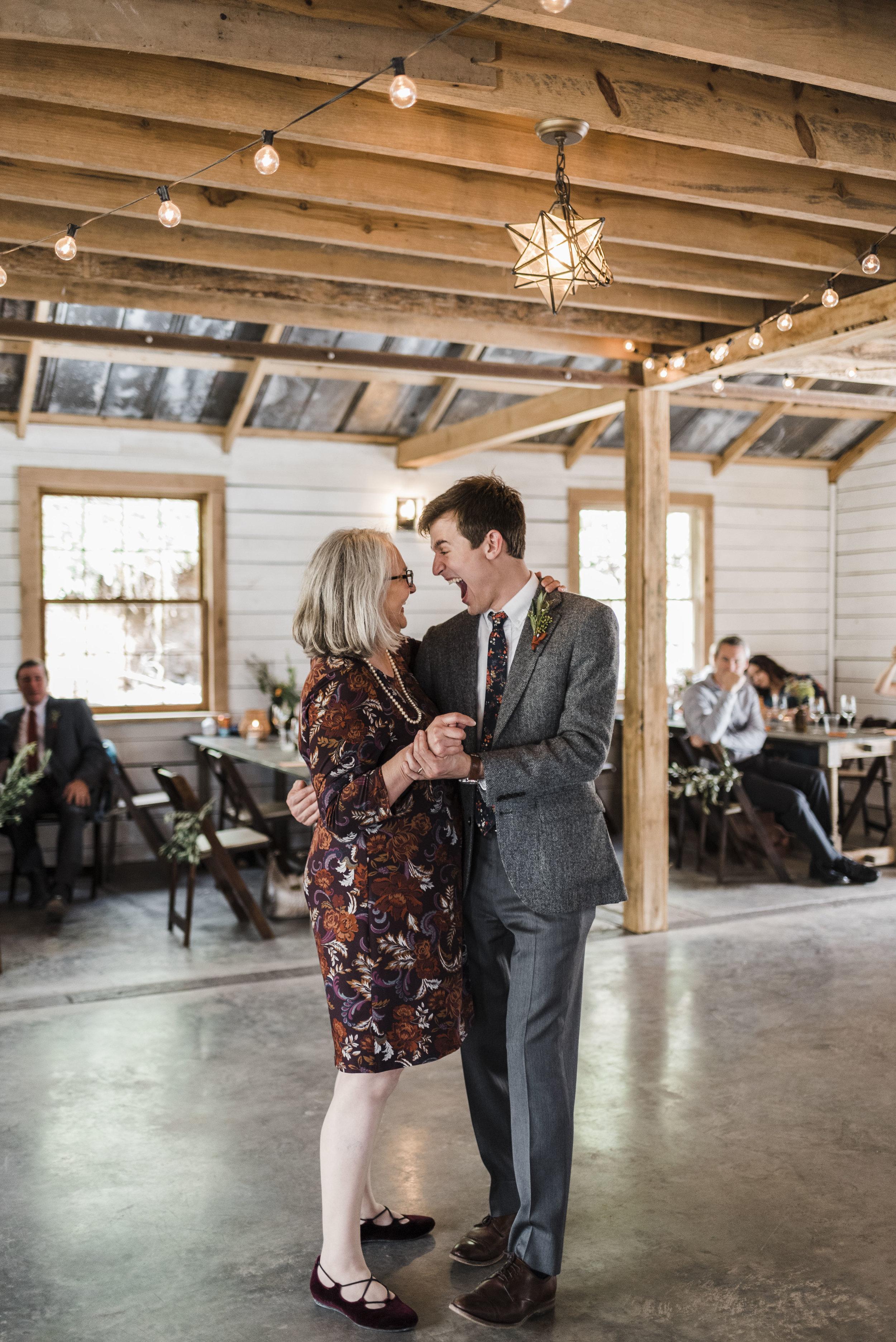 wedding mother son dance chattanooga Tennessee barn