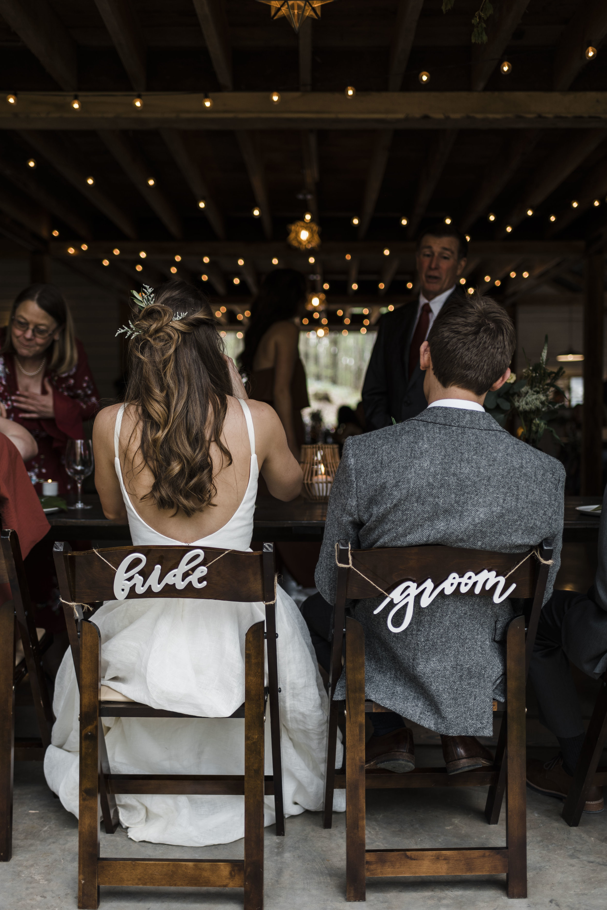 wedding bride groom chairs reception chattanooga Tennessee barn