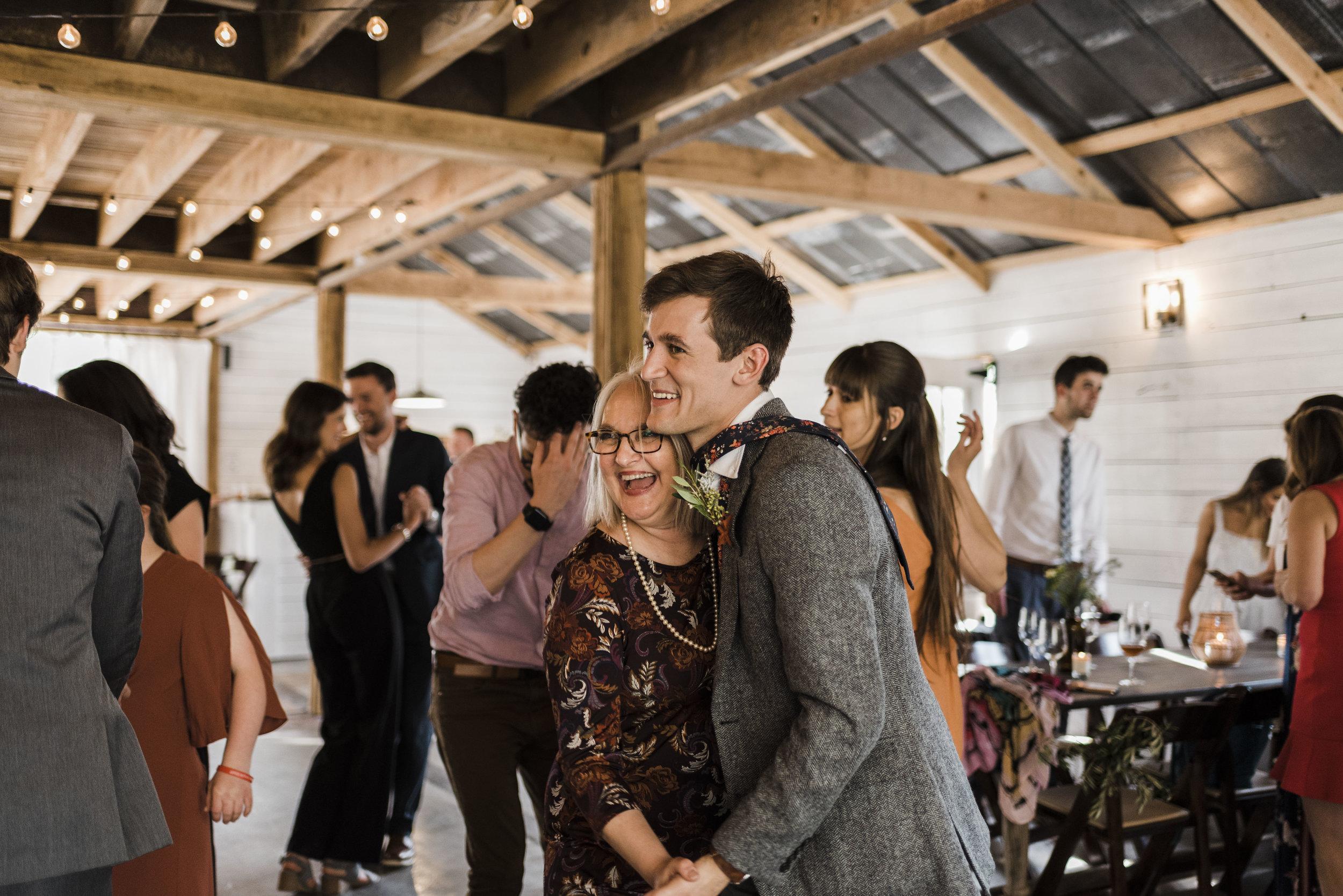 wedding groom mom dancing reception Chattanooga Tennessee