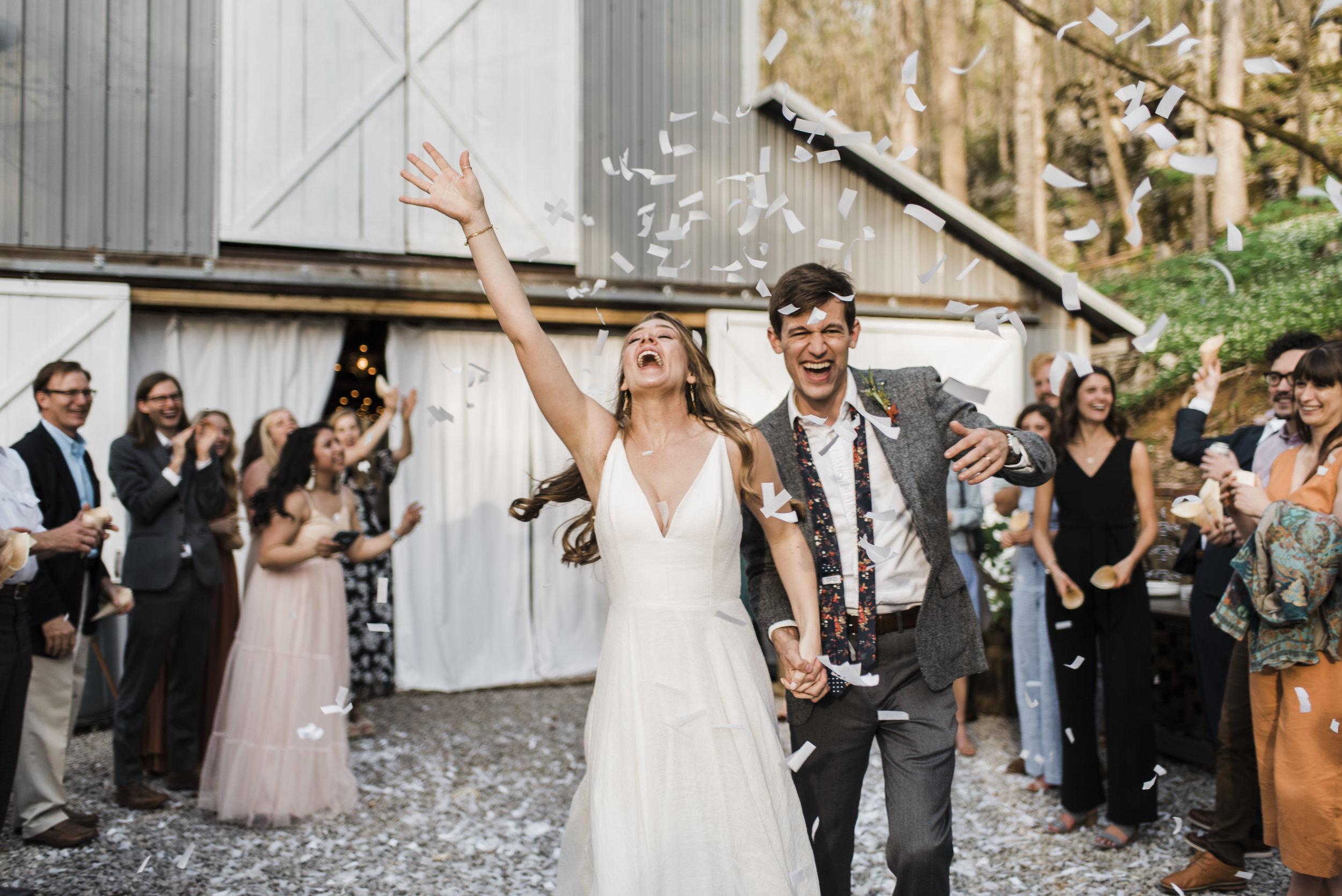 wedding reception exit confetti Chattanooga Tennessee
