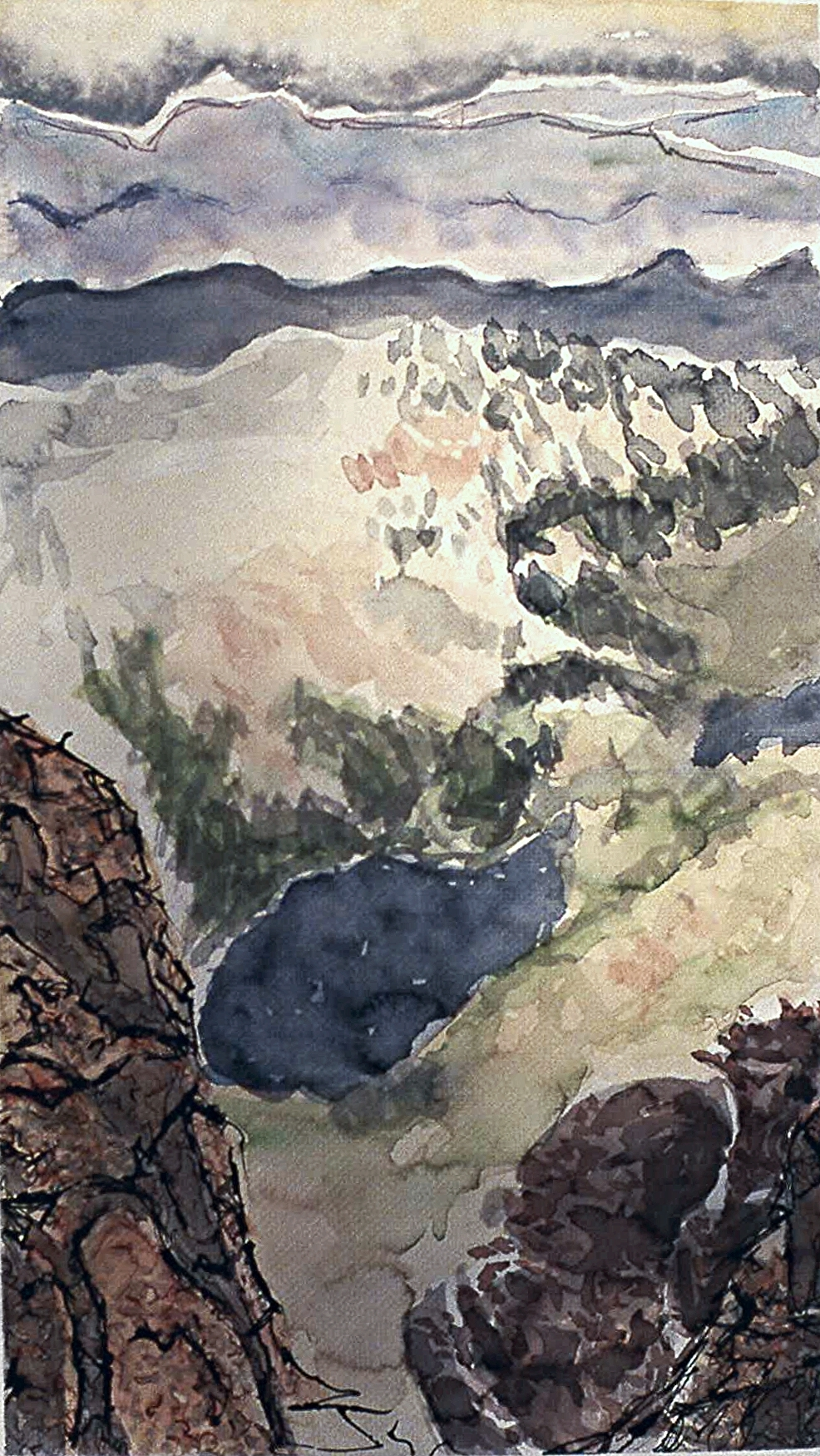 """""""summit lake from Mt Evans"""""""
