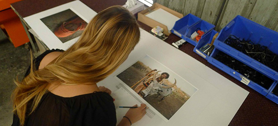 Signing Barefoot Edition Prints Banner