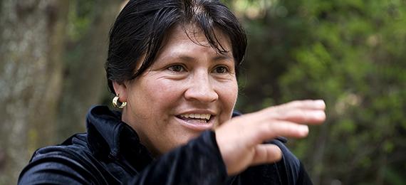 Ines Santizo (45 years old)Co-ordinator of municipal womens office