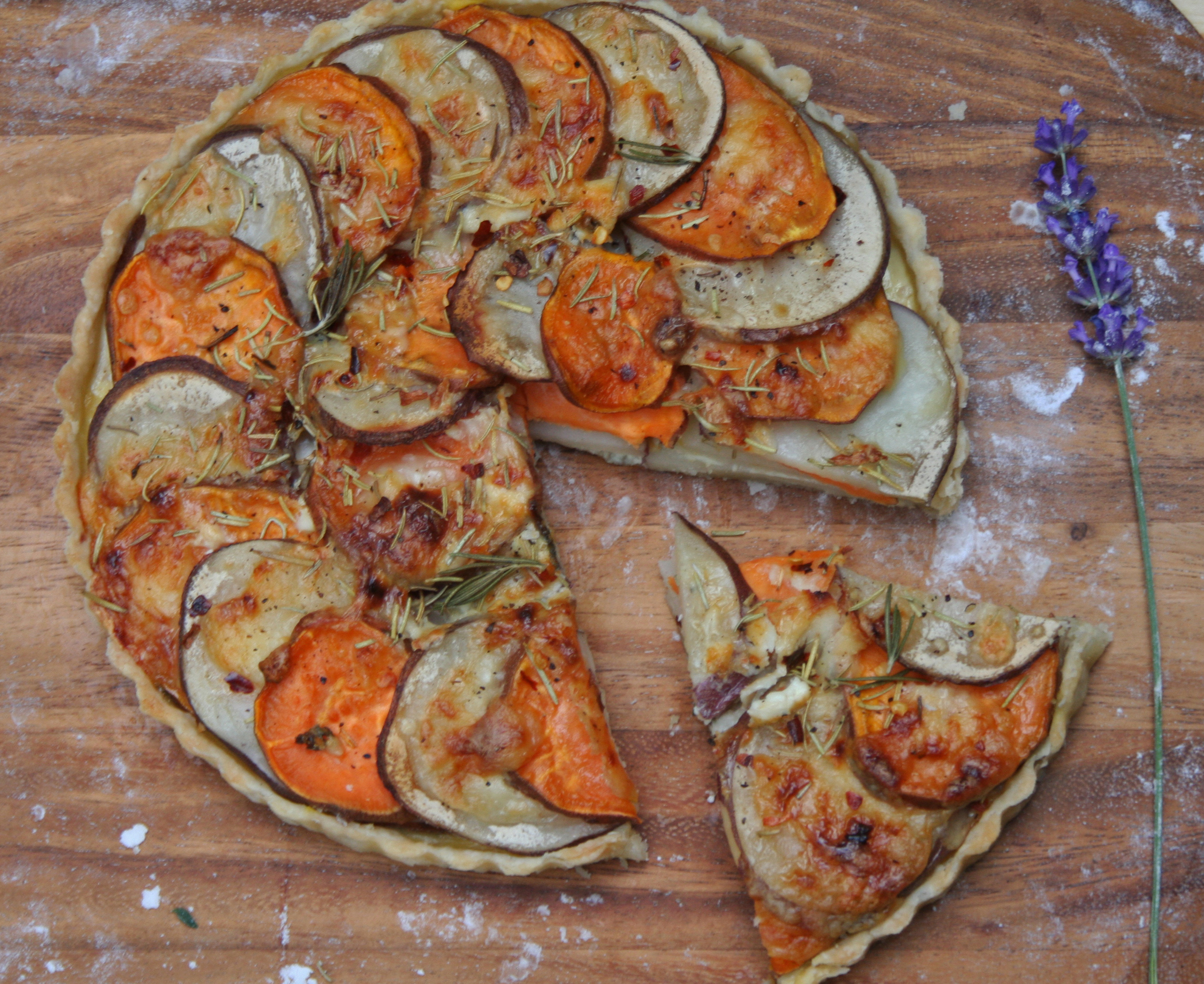 two potato tart sweet potato purple