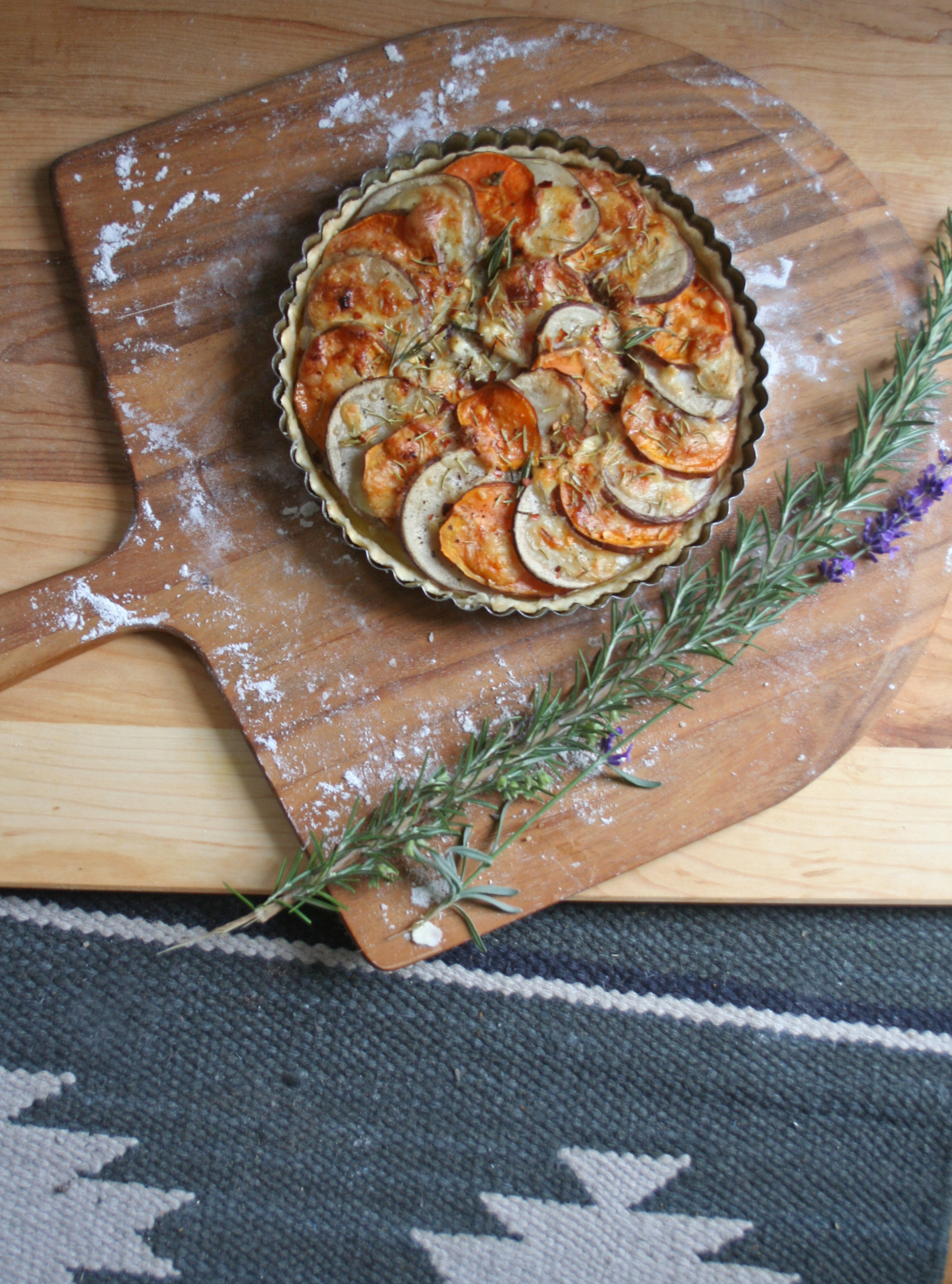 two potato tart