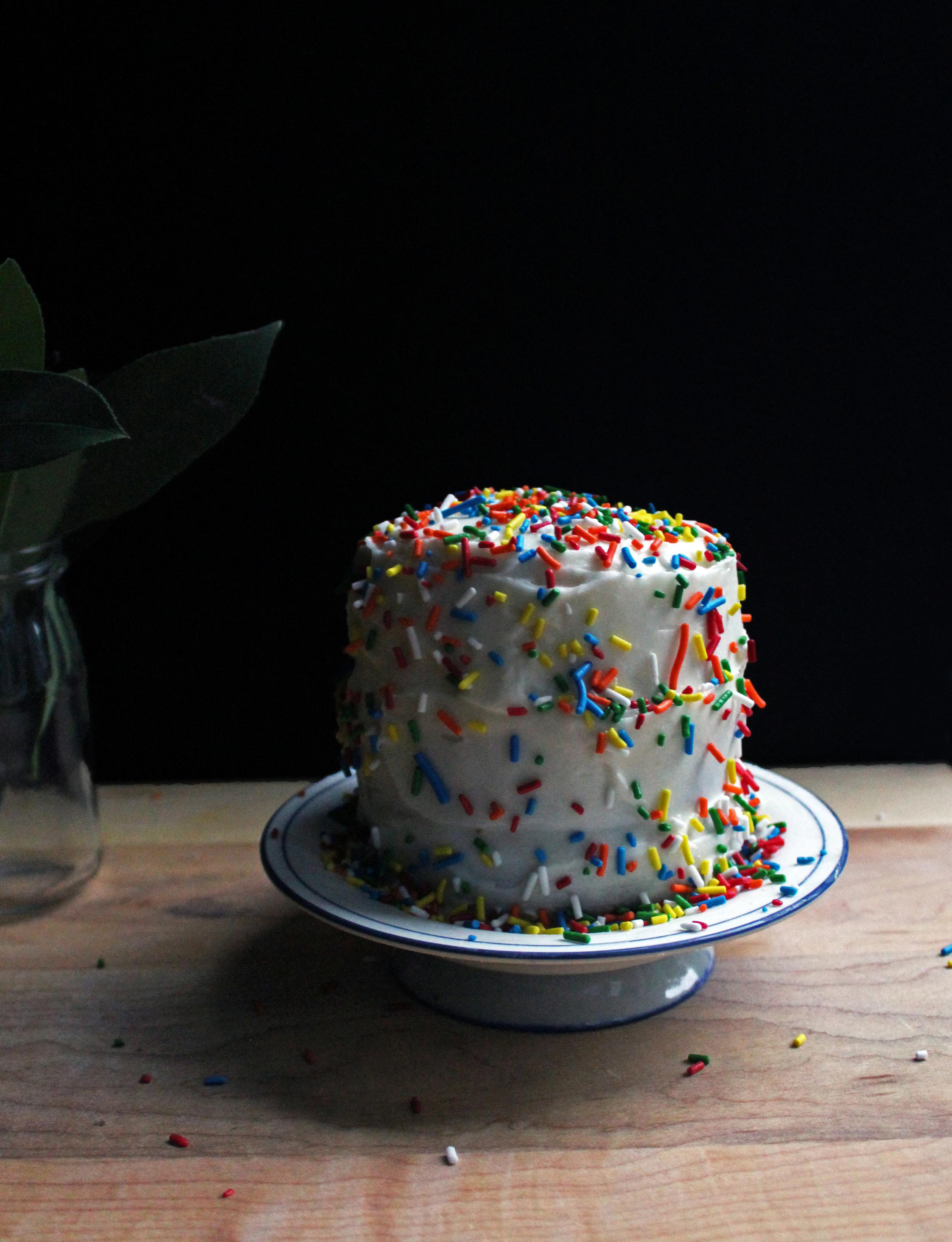 funfetti pumpkin cake