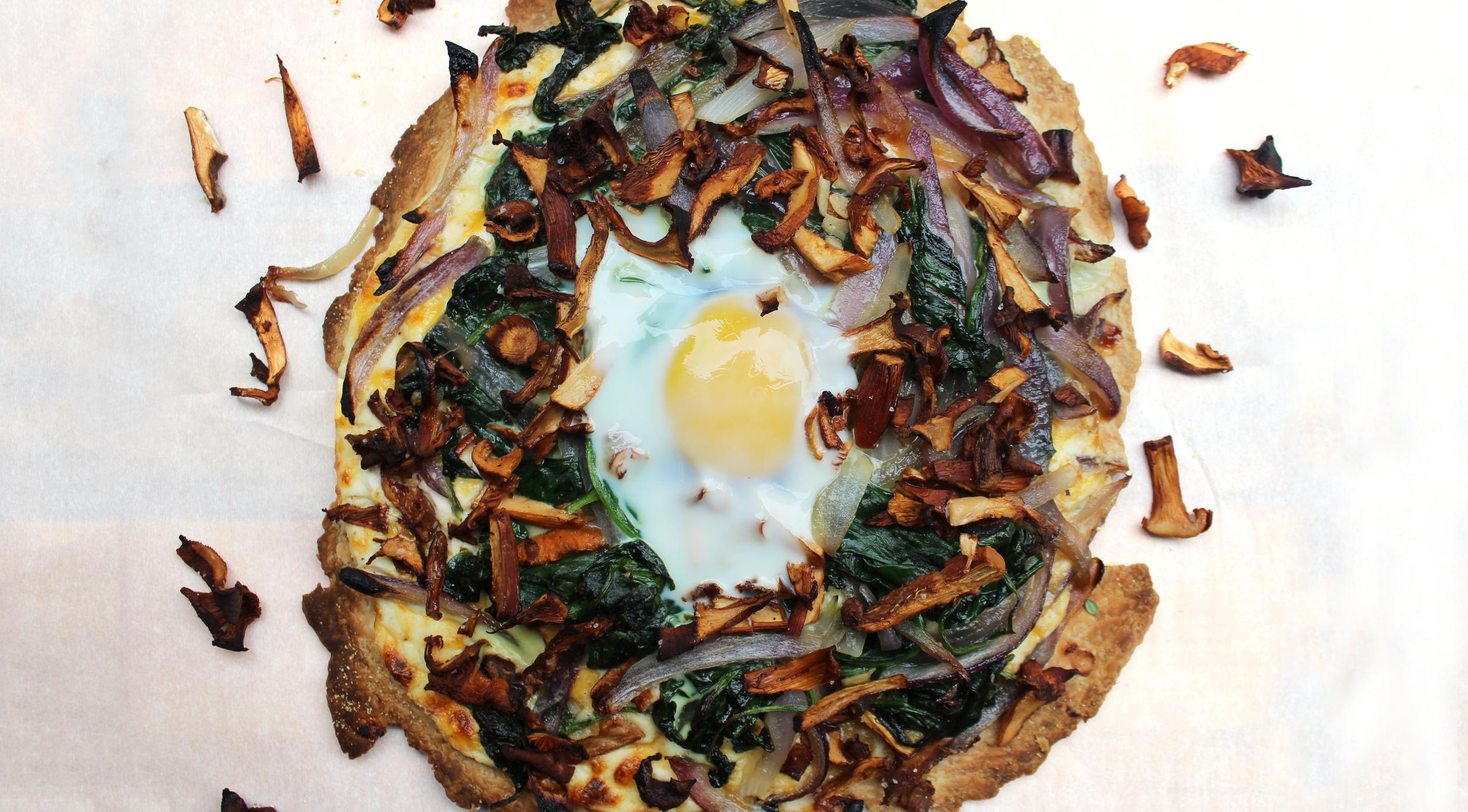 wild chanterelle breakfast tart mushrooms