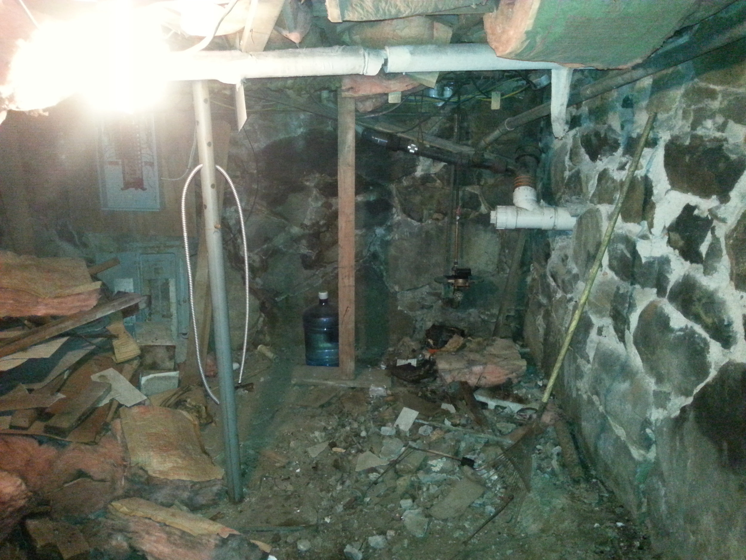 We ripped out the oil tank and the basement feels much bigger now.