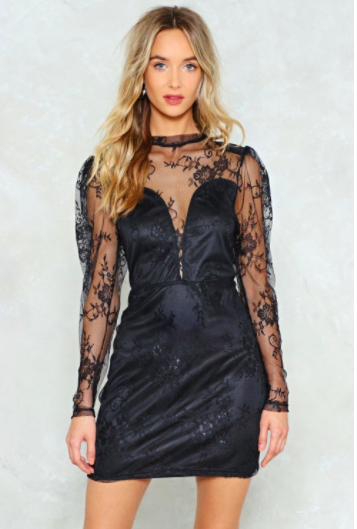 lace dress winter