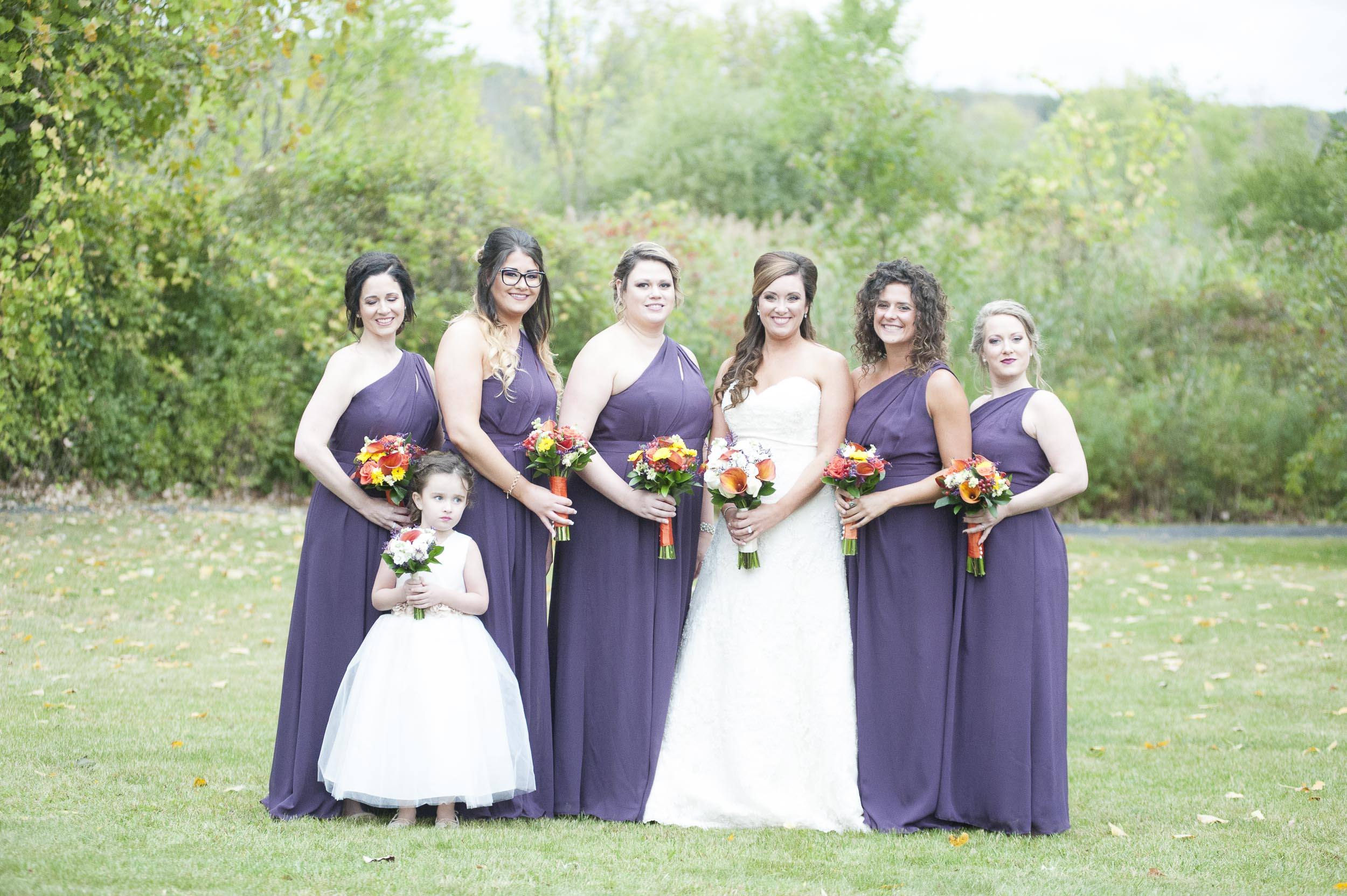 In the 4th image, the bridesmaid on the far left closed her eyes.