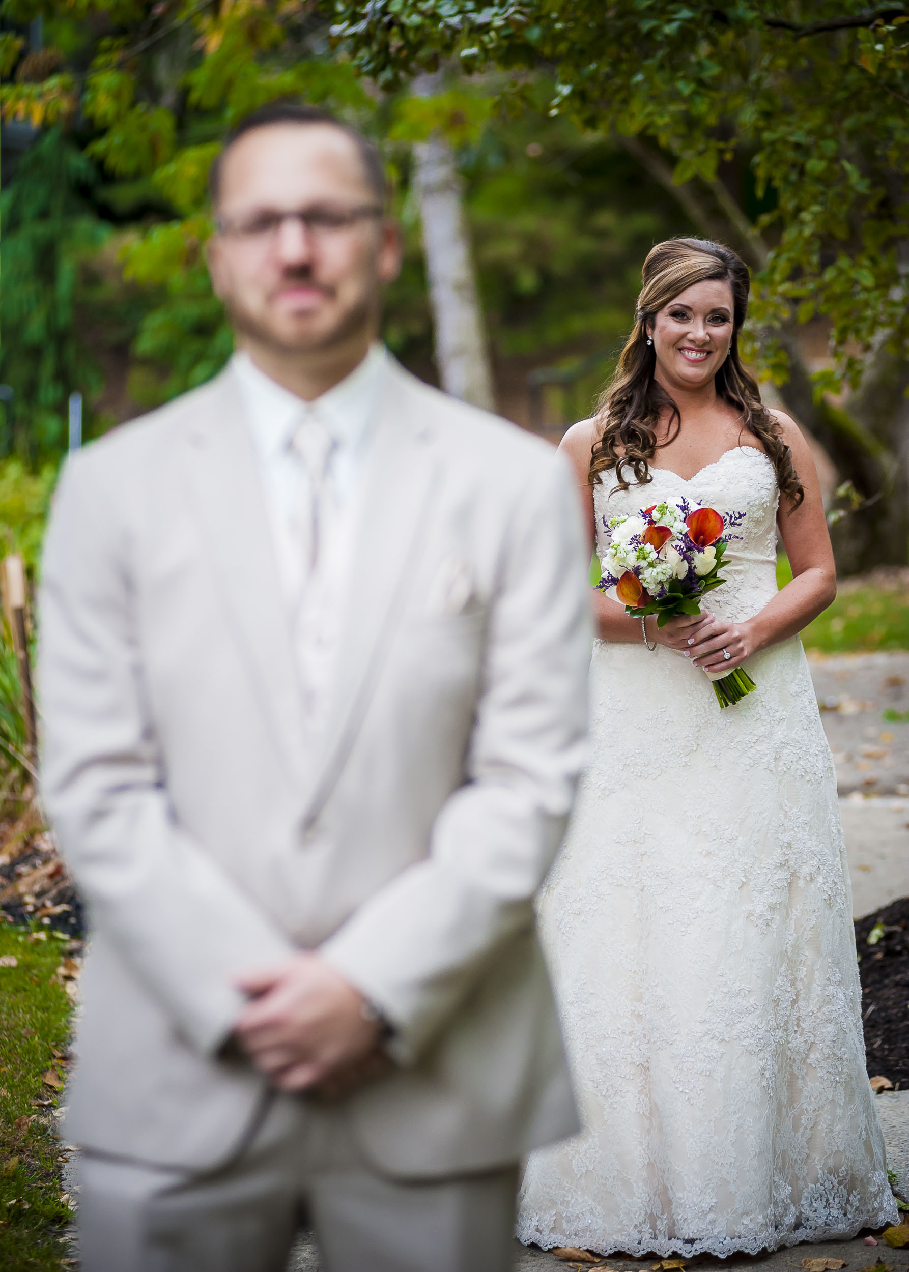 Love how the happy the bride looks.