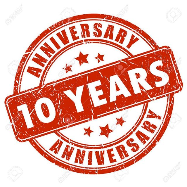 Save The Date! We are having our 10 Year Anniversary Party next Saturday, March 23rd Starting at 7pm. More details to follow in the coming days, but it will be EPIC!!!