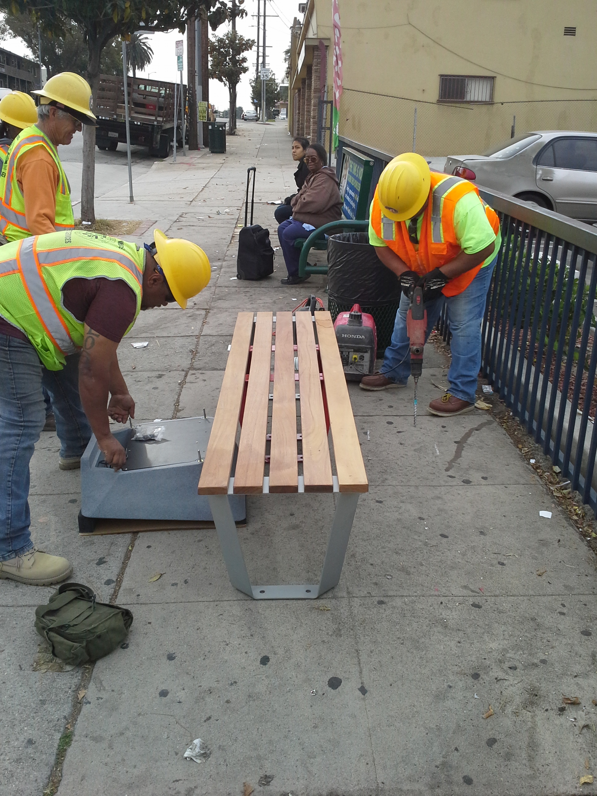 Soofa Bench Installation 2015