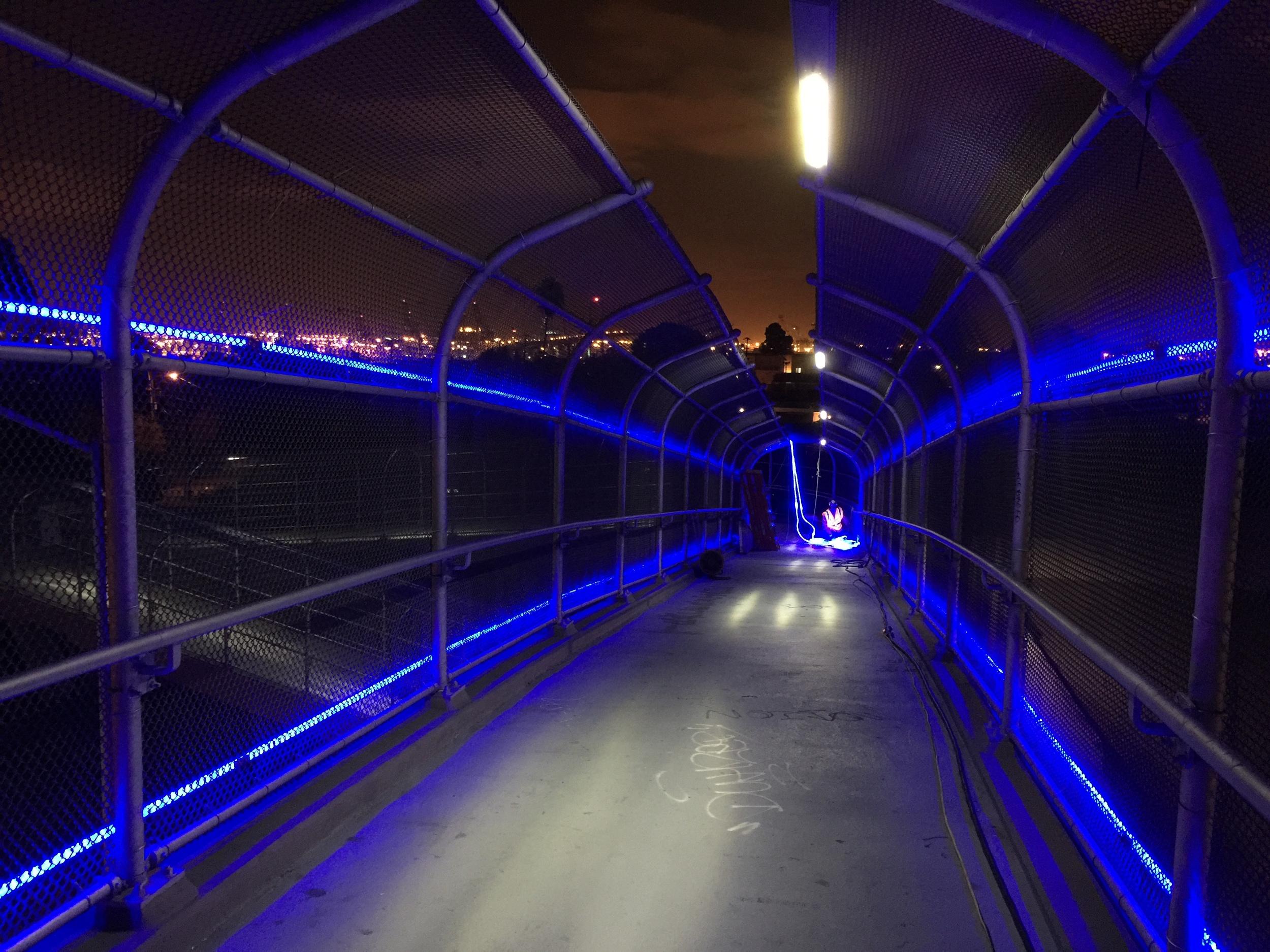 Gaffey Street Pedestrian Bridge Lighting 2014