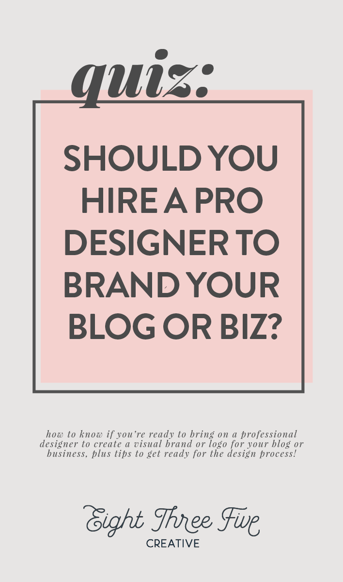 Quiz: Should I hire a professional designer to brand or create a logo for my blog or business?