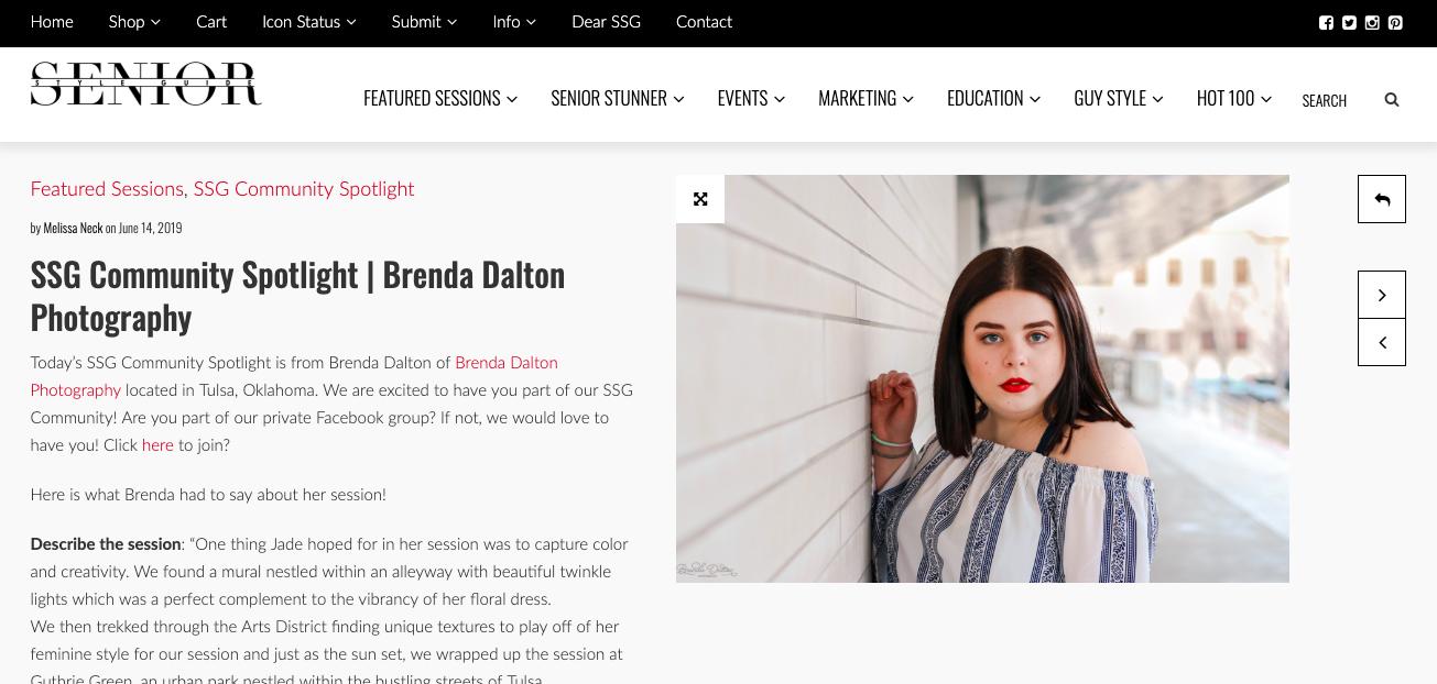 Tulsa Senior Portrait Session: Featured PHotographer Brenda Dalton