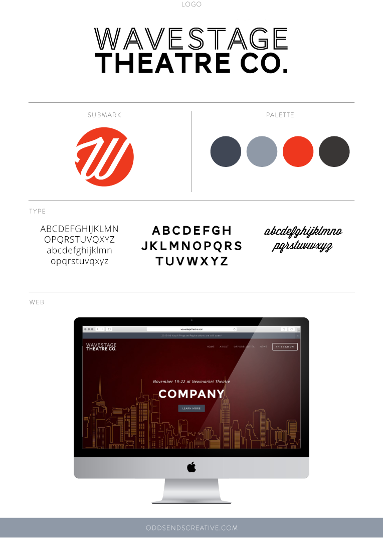Wavestage Theatre Company   Brand and Website Design   Odds & Ends Creative
