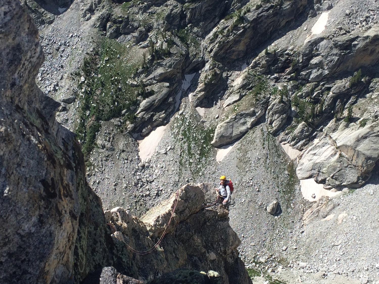 Looking down the ridge. Sharp!