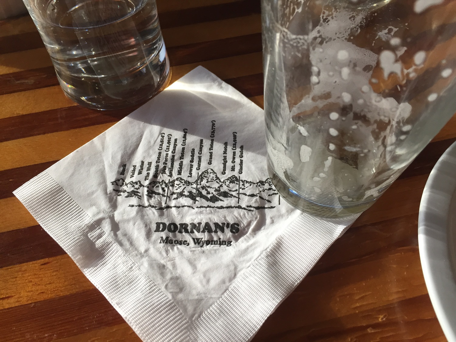 Victory beers at Dornan's! The napkin even shows our route!