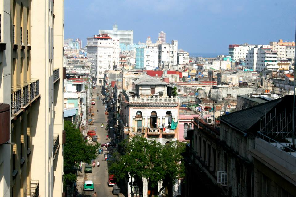 Havana from out hotel room. Unlike most cities, there is no distinction between residential, industrial, and commercial areas. Everything was basically built on top of itself, with good craftsmanship but poor quality materials due to the embargo.