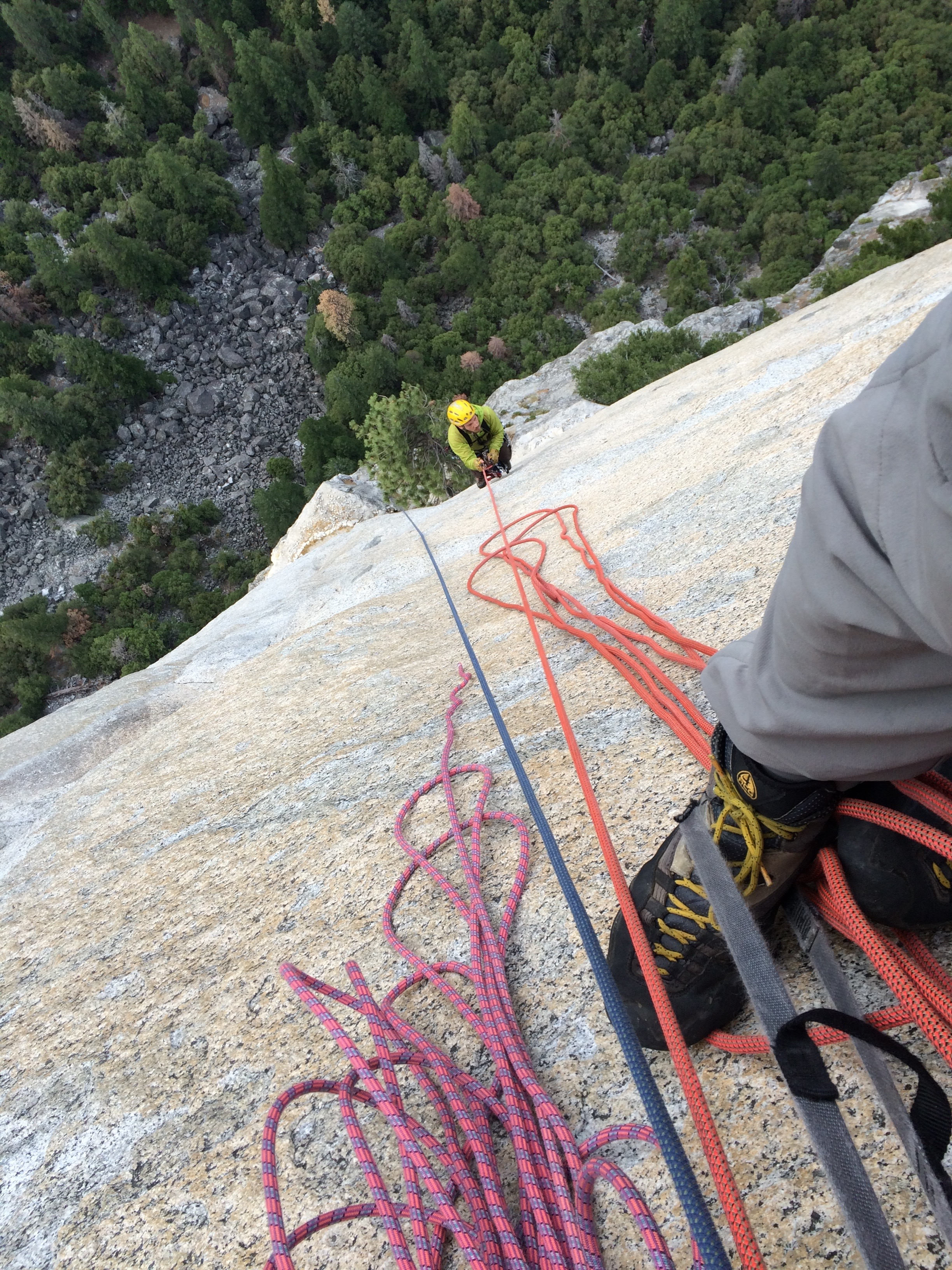 Jugging our fixed lines to our previous day's high point