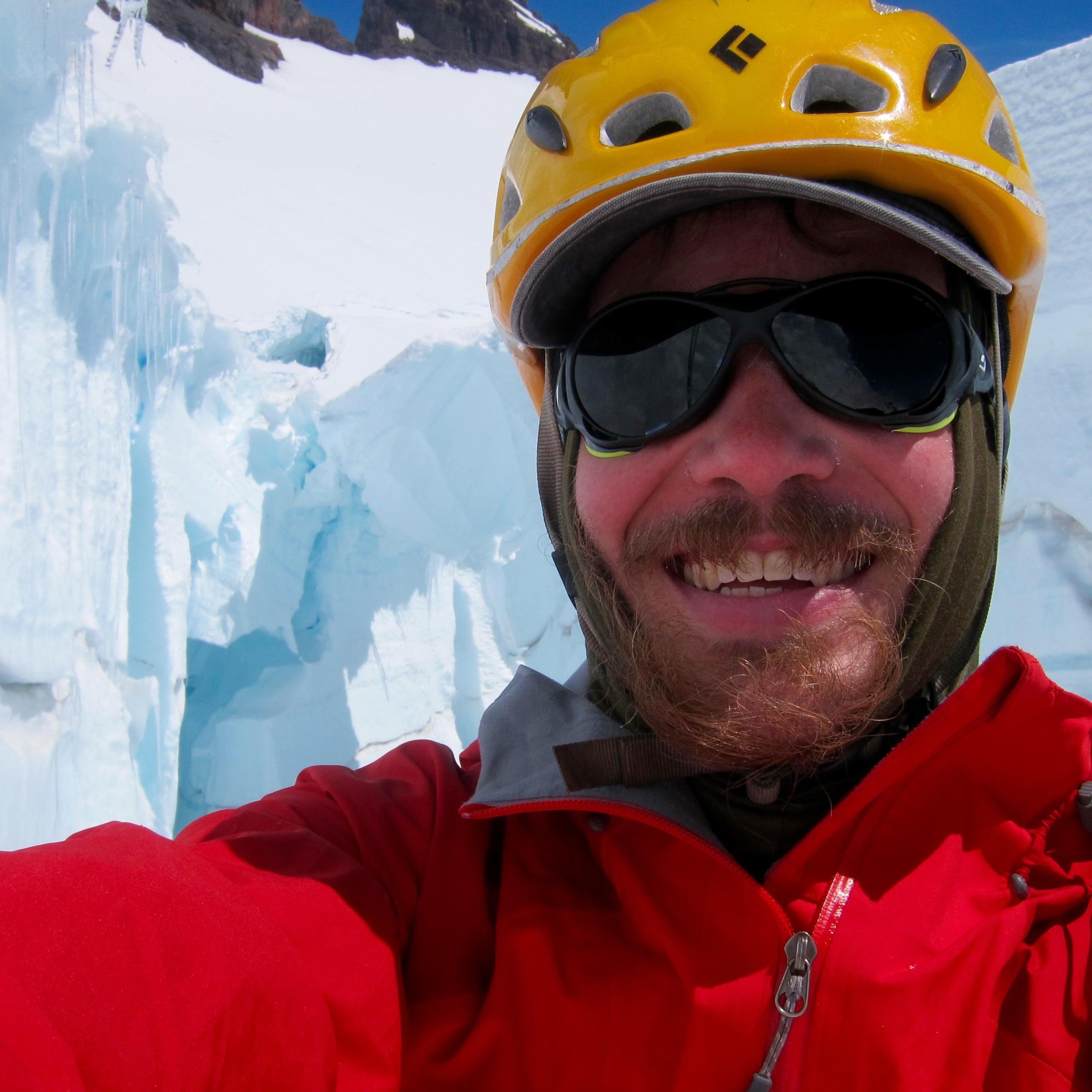 Inside the crevasse. Pretty cold down here!