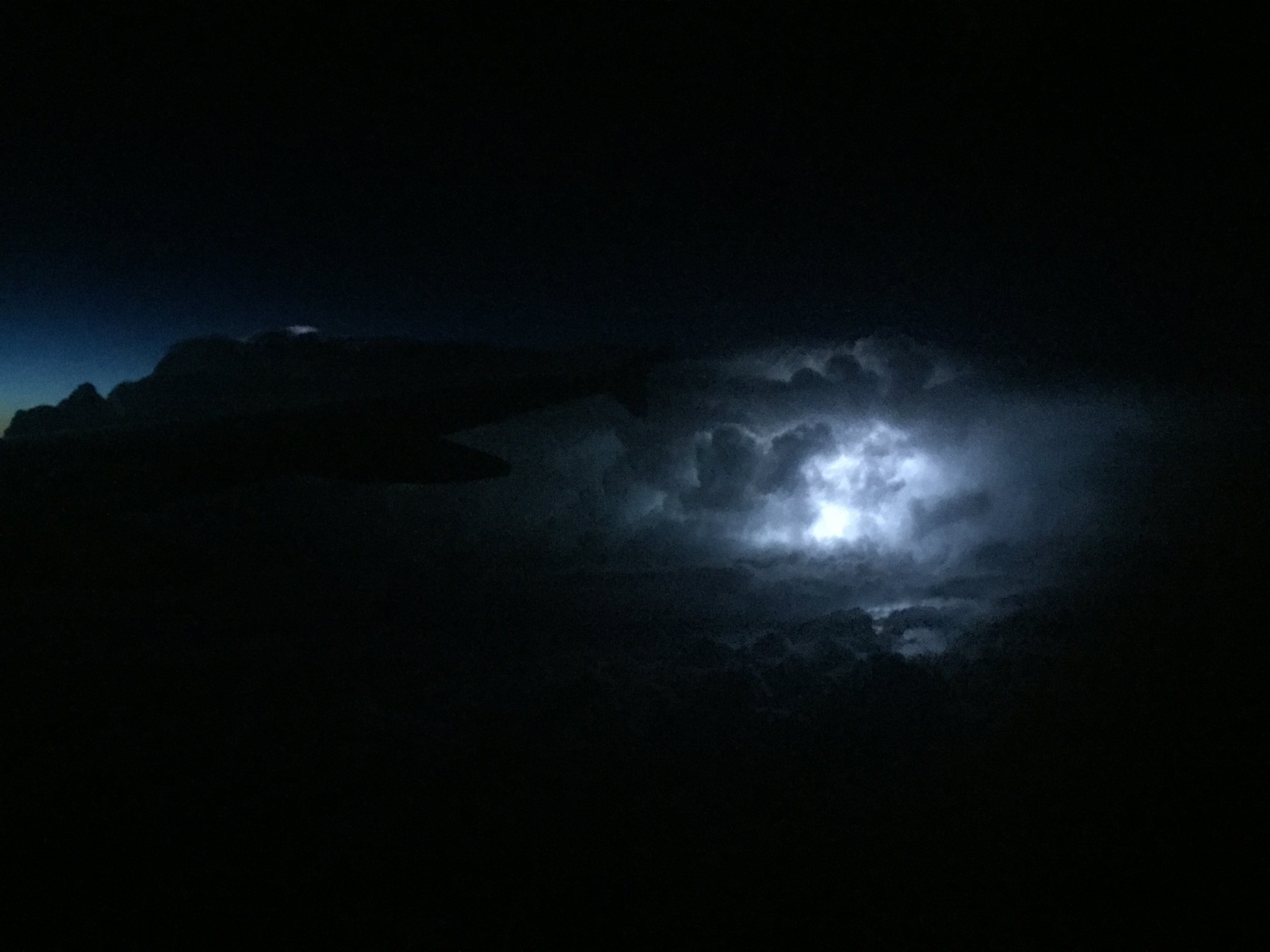 Luckily this electrical storm on the flight was not something we experienced on route